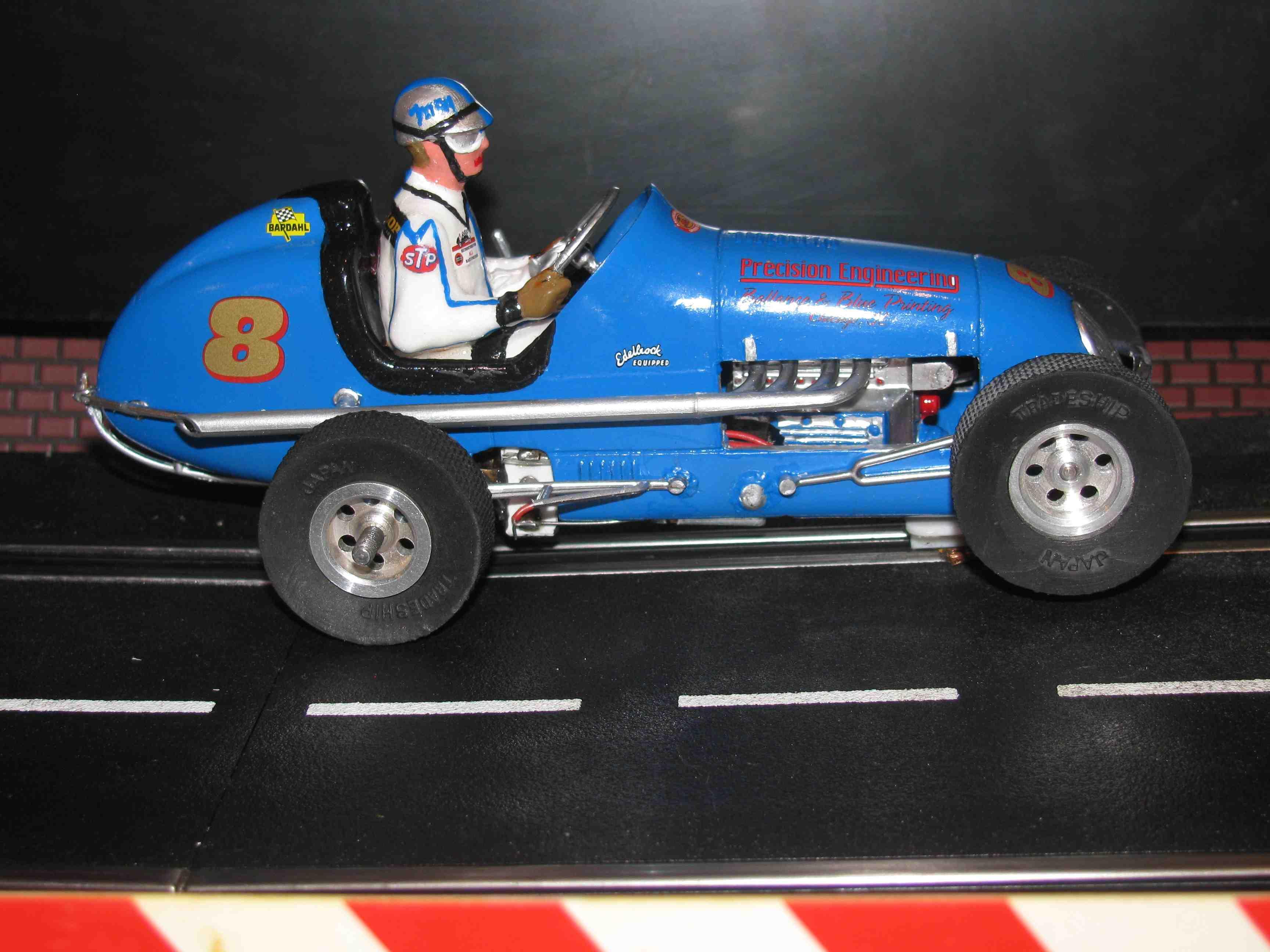 "* SOLD * Revell-Monogram Midget Racer ""Precision Engineering"" Slot Car 1/24 Scale Car #8"