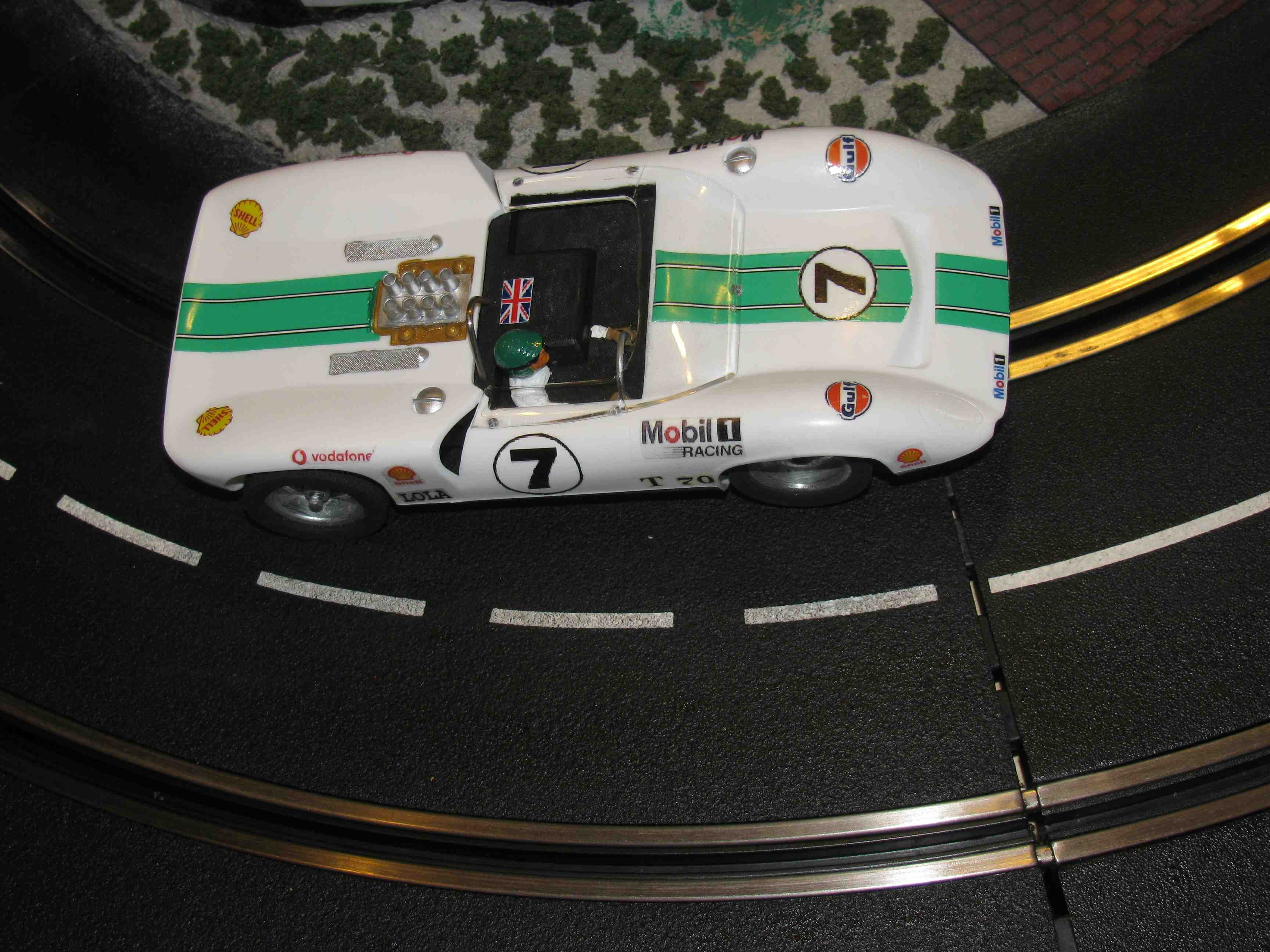 "* SOLD * Vintage 1960's Lola T70 Can-Am Racer Slot Car 1/24 Scale Tamiya ""Dan Gurney"" Lola T70 in 1/24 Slot Car"