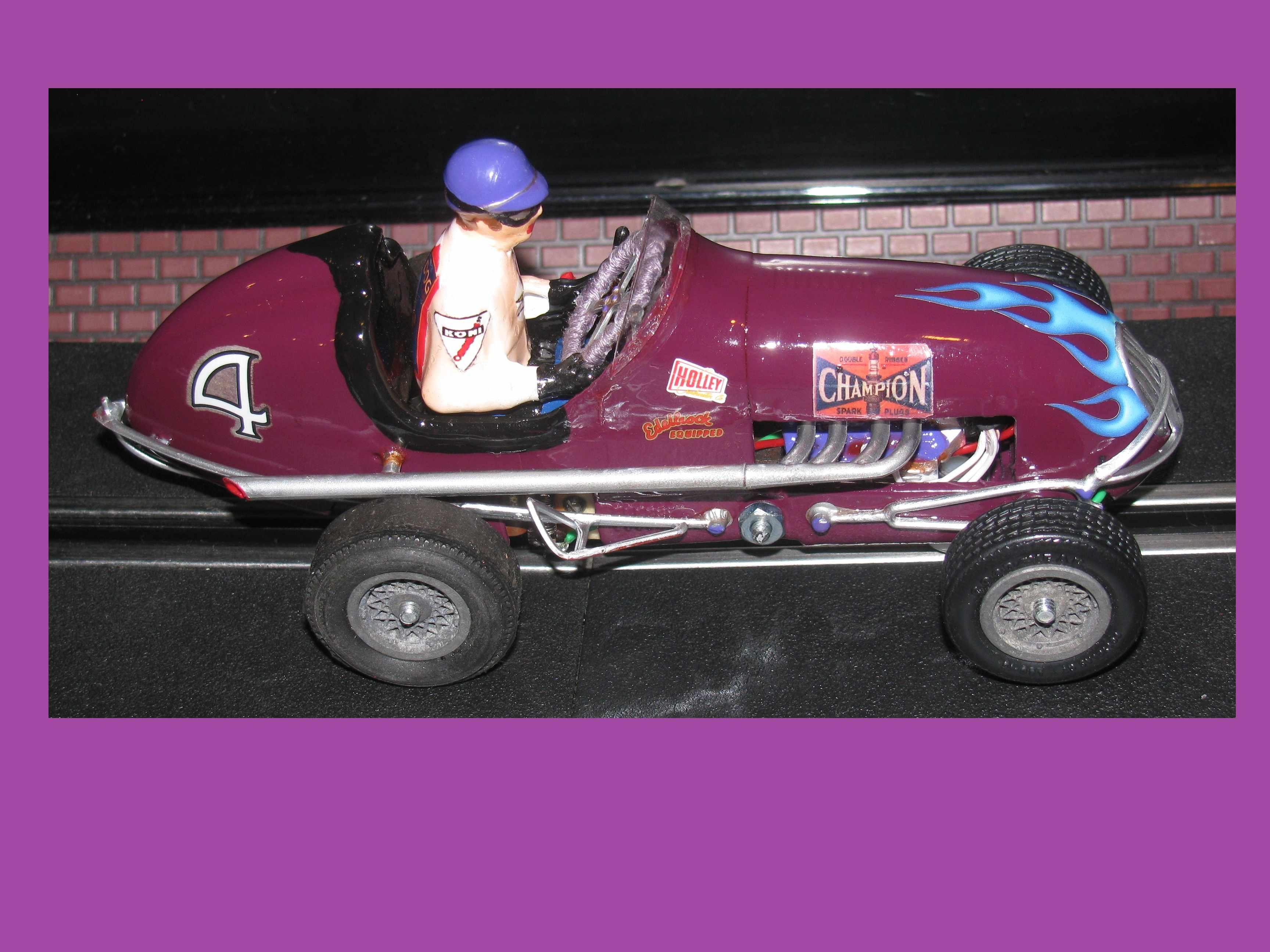 * Winter Super Sale * Monogram Midget Racer Royal Purple Racing Special Slot Car 1/24 Scale (Aubergine Satin Purple)
