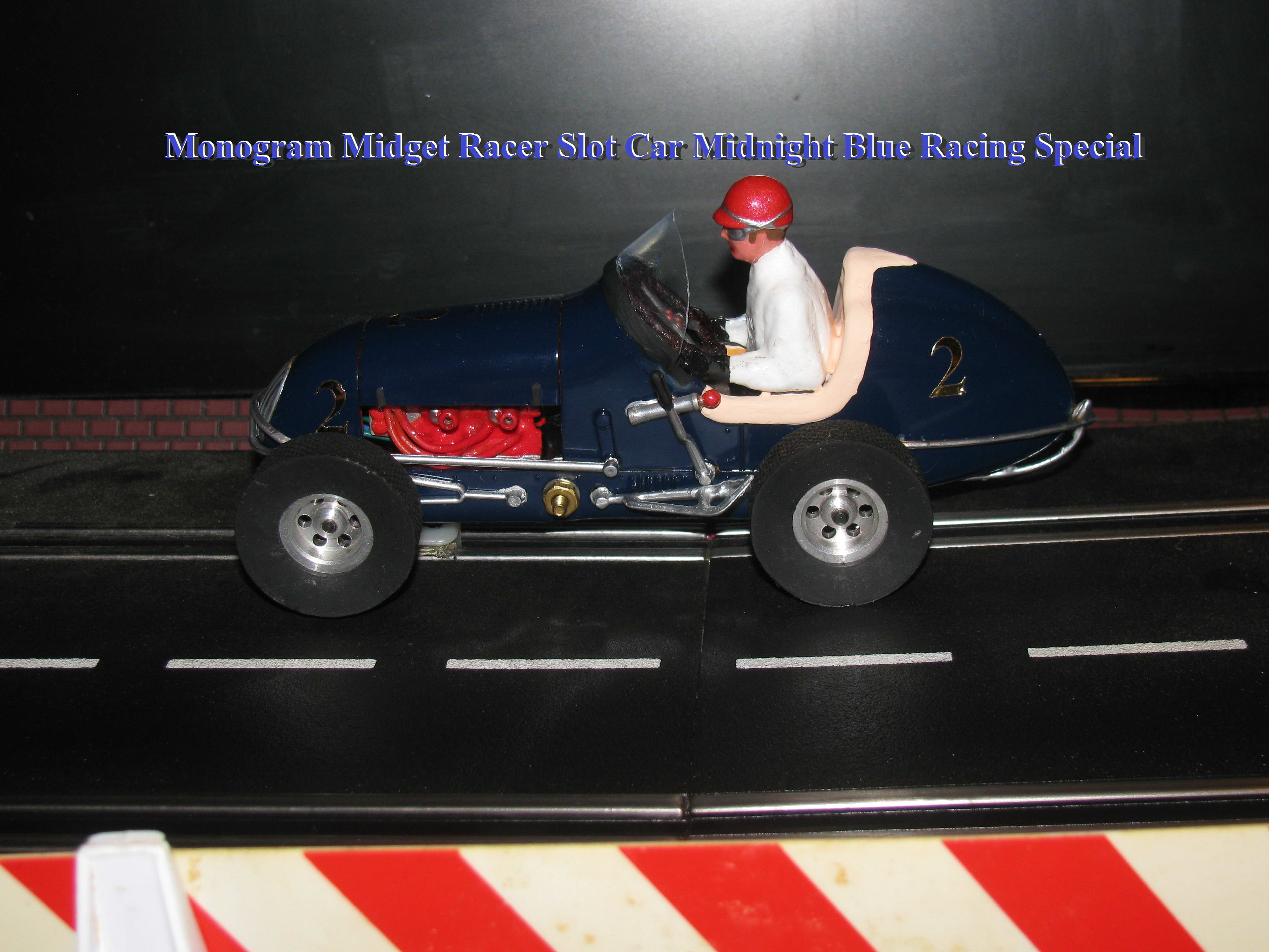 *SOLD* Monogram Midget Racer Slot Car Midnight Blue Racing Special