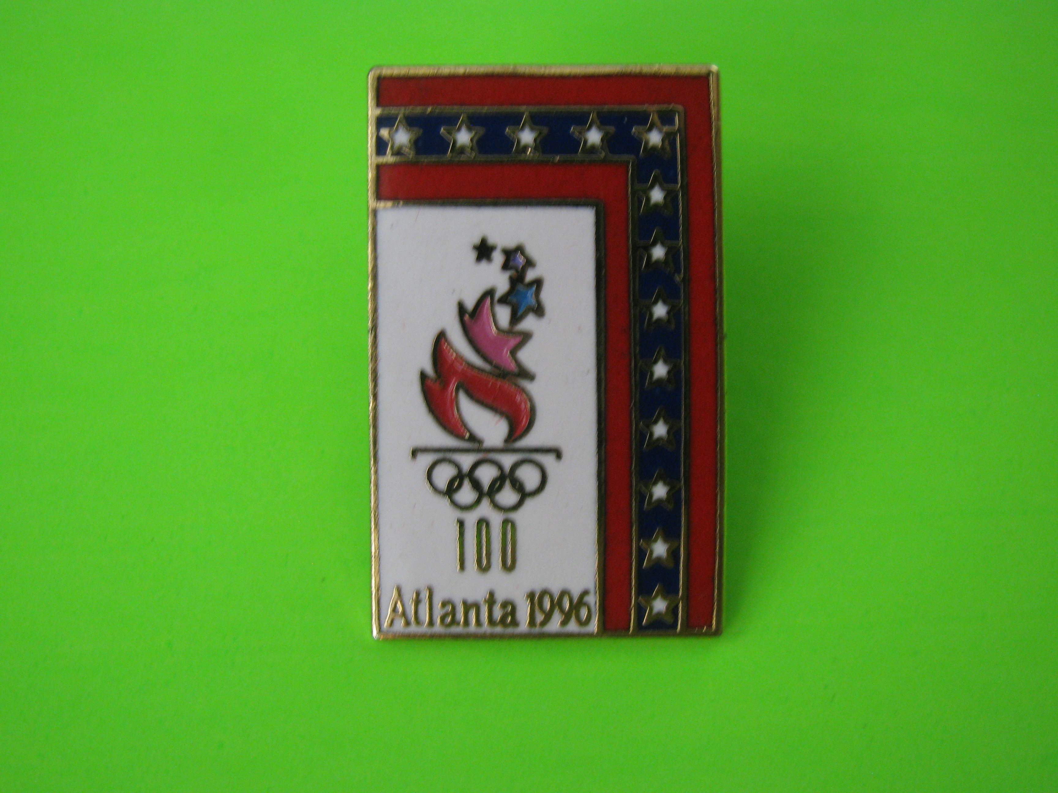 Vintage Atlanta 1996 Olympic Games Pin with Metal Butterfly Clutch