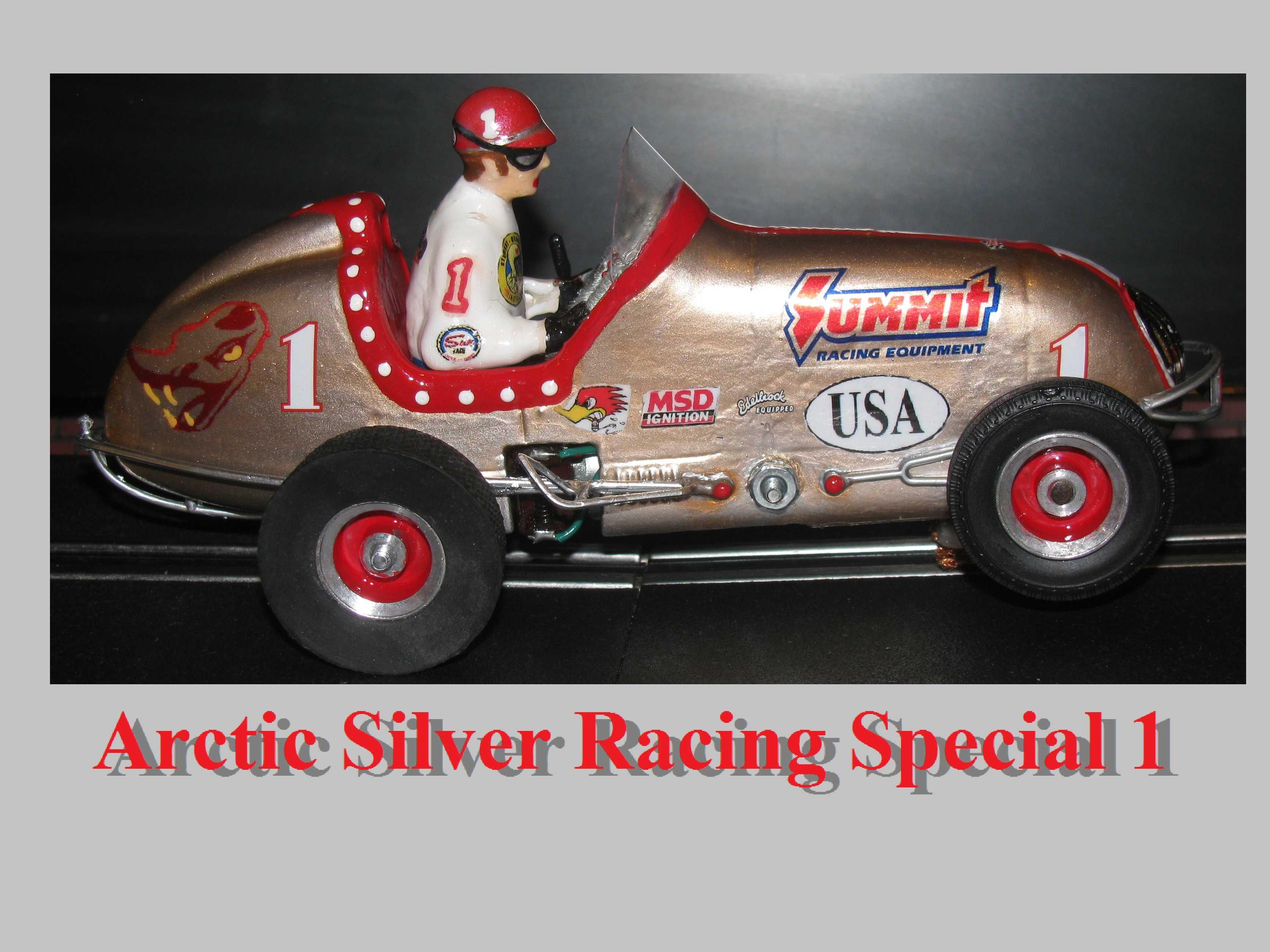 "* SOLD * * Winter Sale * Monogram Midget Racer Arctic Silver ""Flying Lizards"" Special 1:24 Scale Car #1"