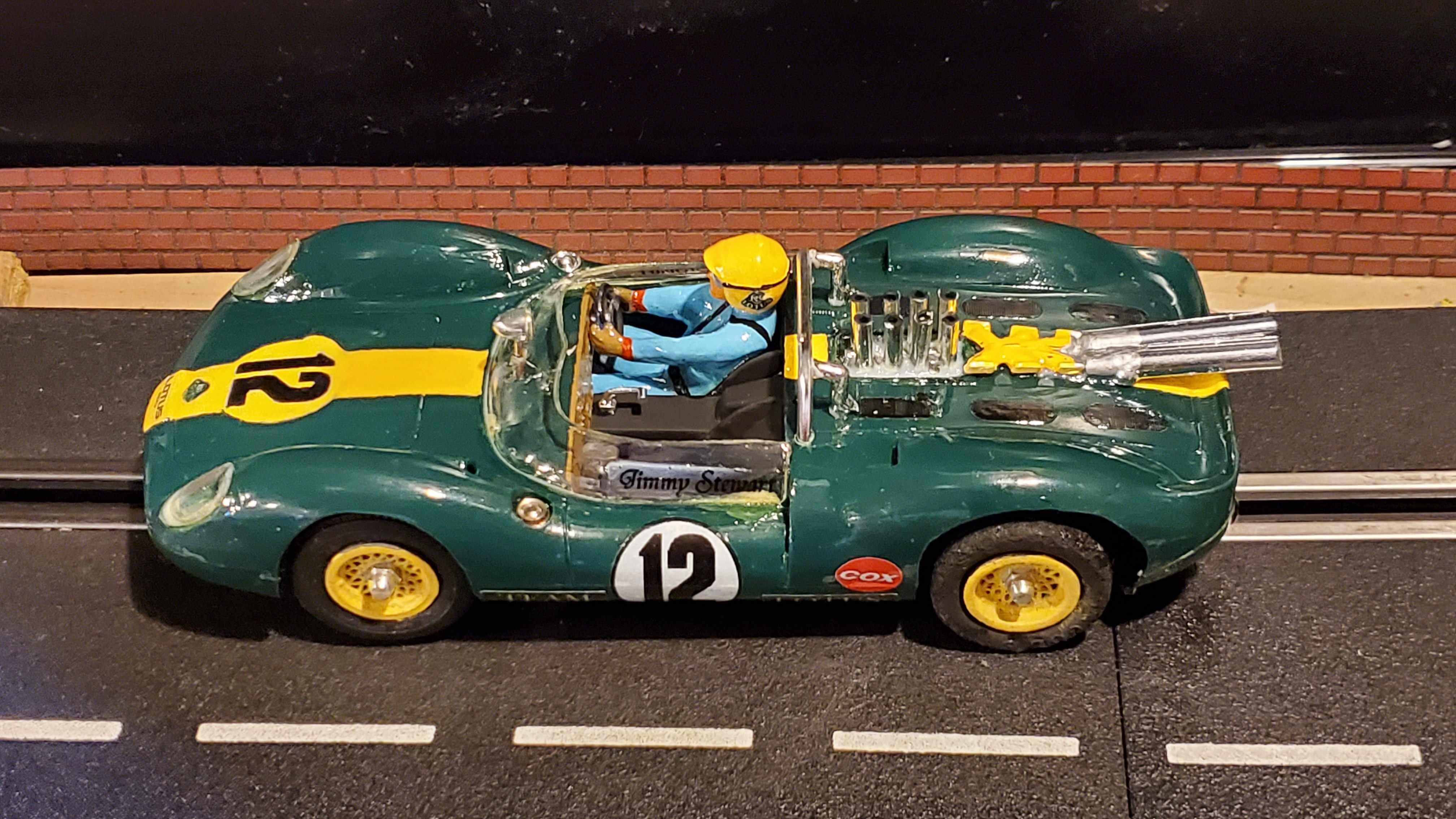 1965 COX Lotus Type 40 Slot Car 1:24 Scale Car 12