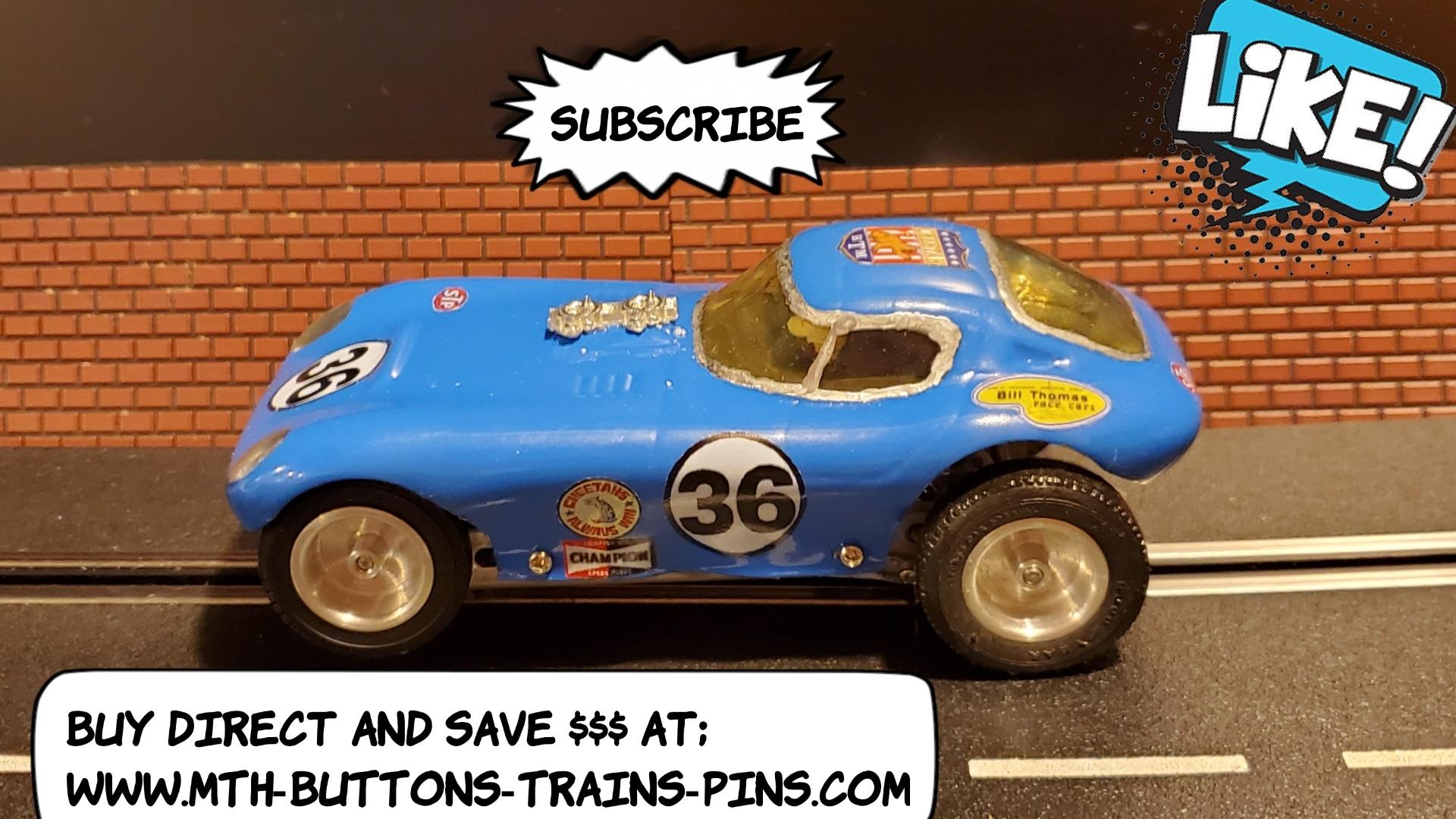 * SALE * AMT Bill Thomas Cheetah Racer Slot Car 1:24 Scale Blue Car 36