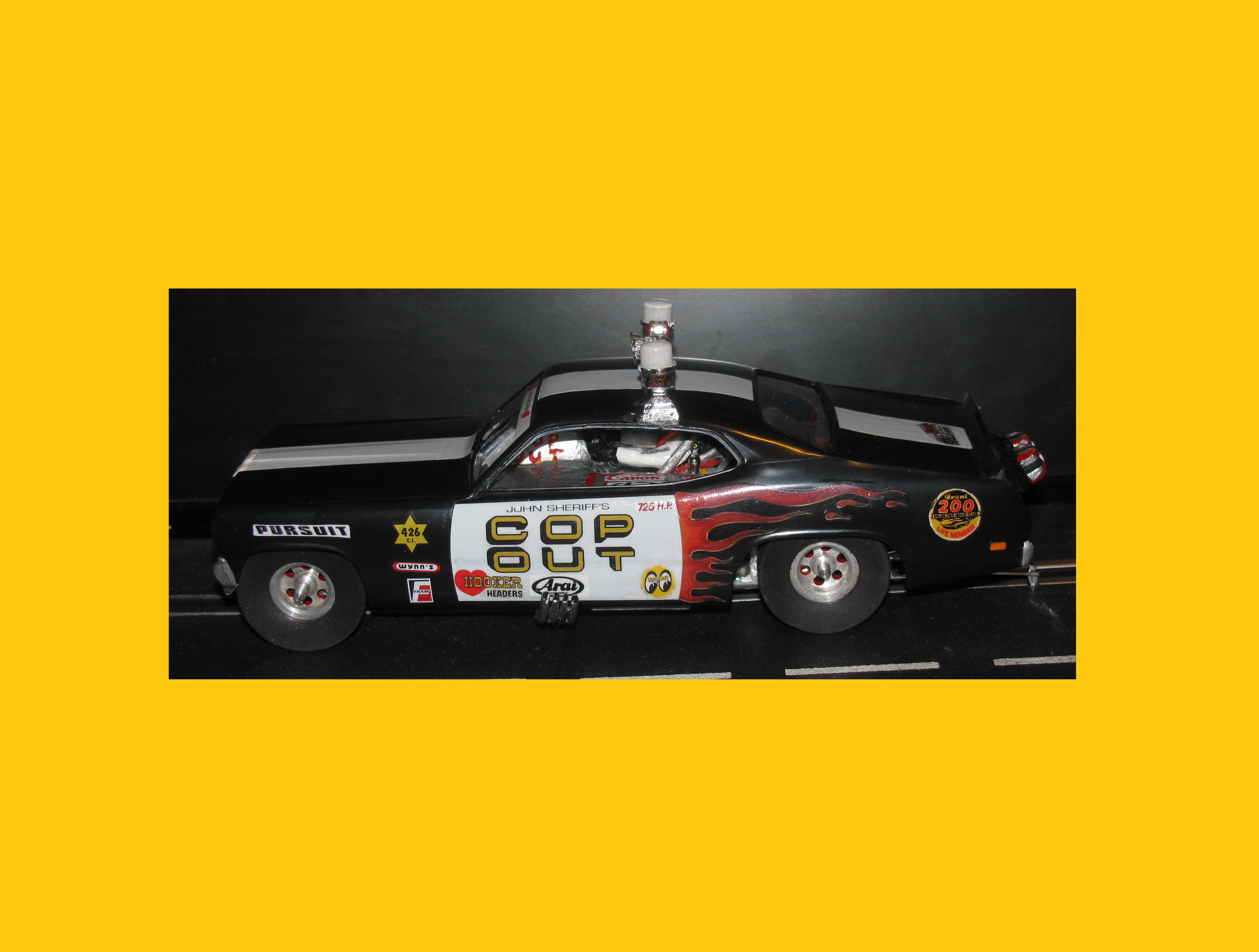 * Winter is coming SALE * Monogram Tom Daniel's Cop Out Dragster-Funny Car Slot Car 1/24 Scale
