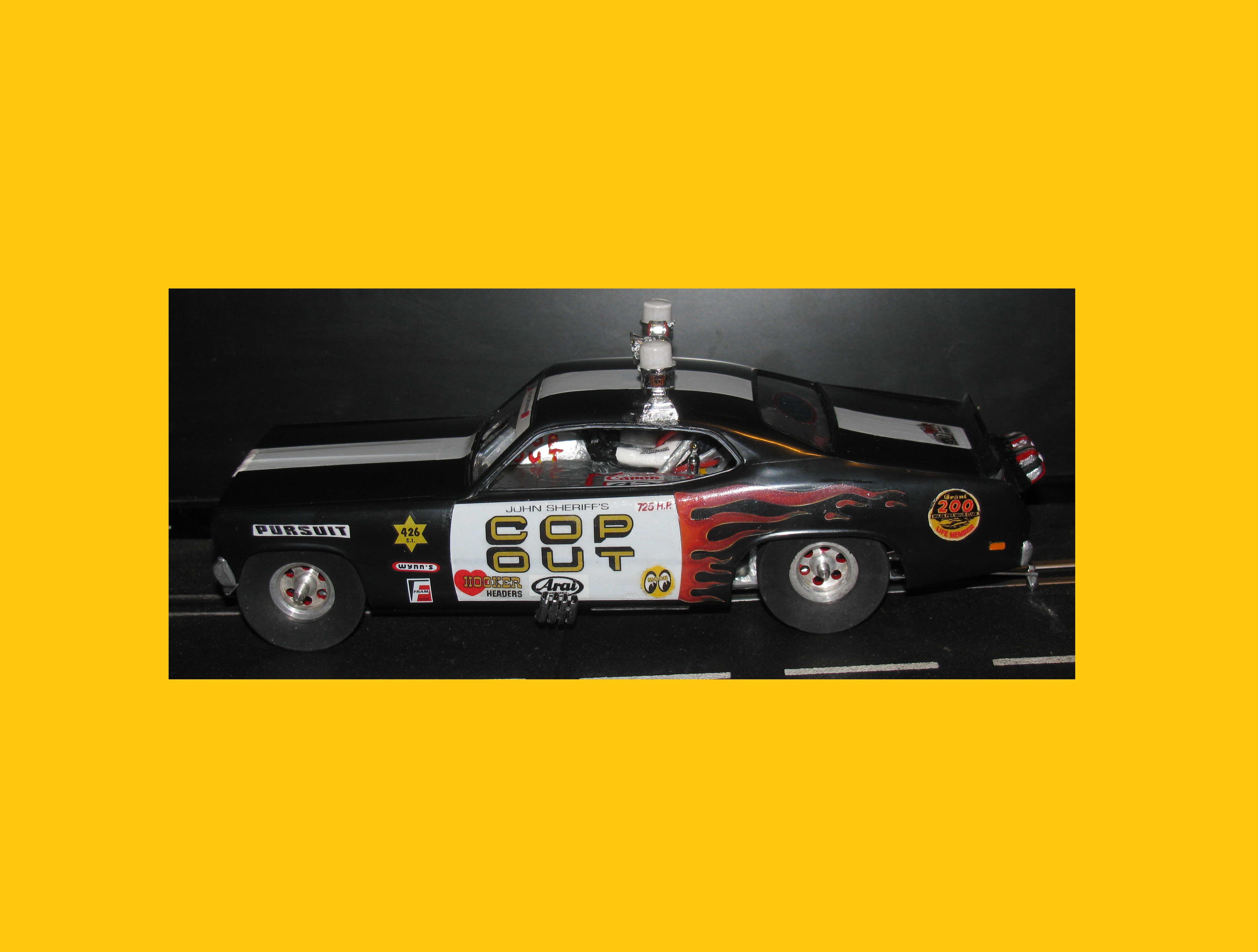 * Winter Super Sale * Monogram Tom Daniel's Cop Out Dragster-Funny Car Slot Car 1/24 Scale