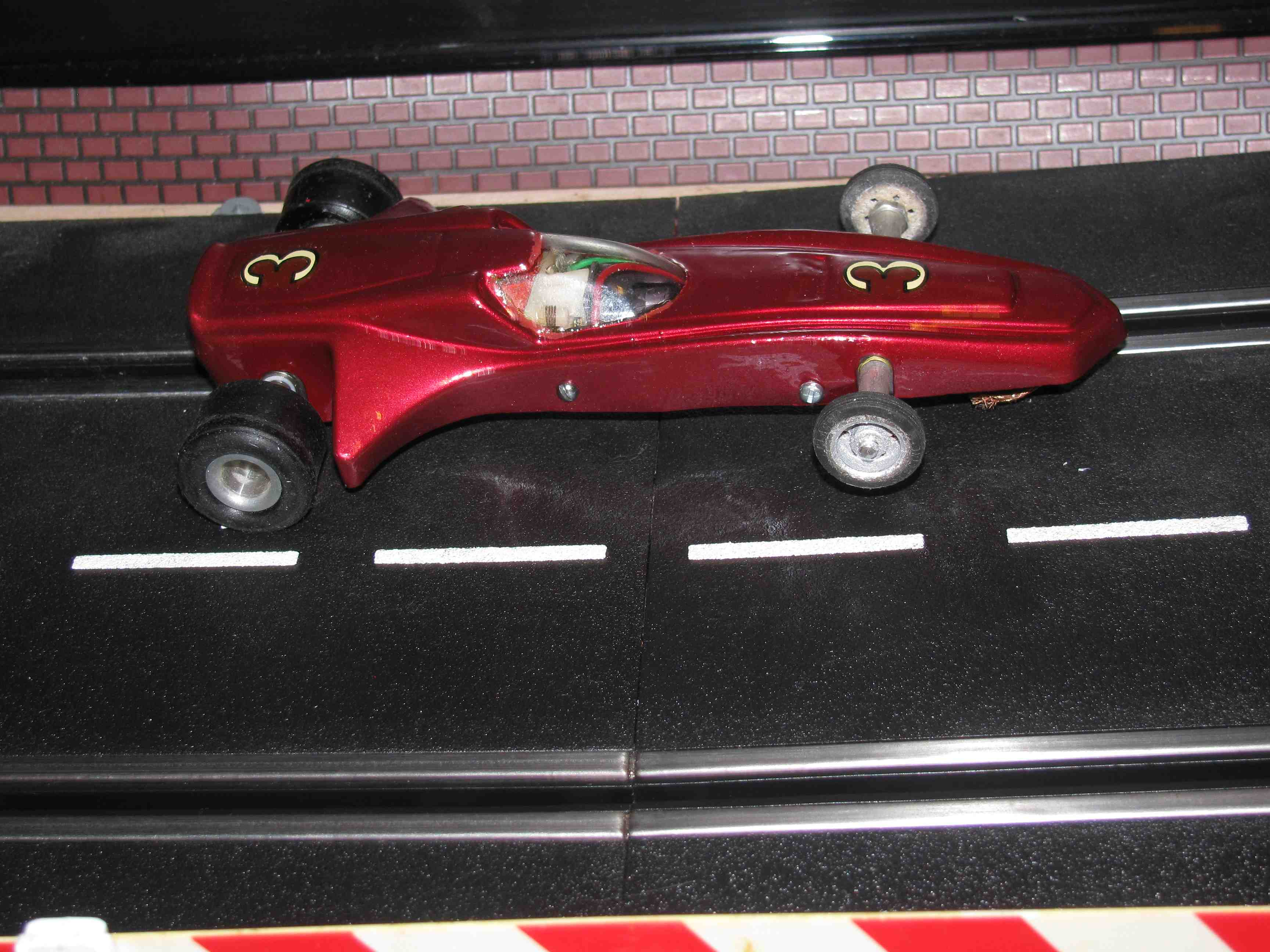 * SOLD * ssic Industry ASP Radical Red Racer 1/32 Scale Slot Car