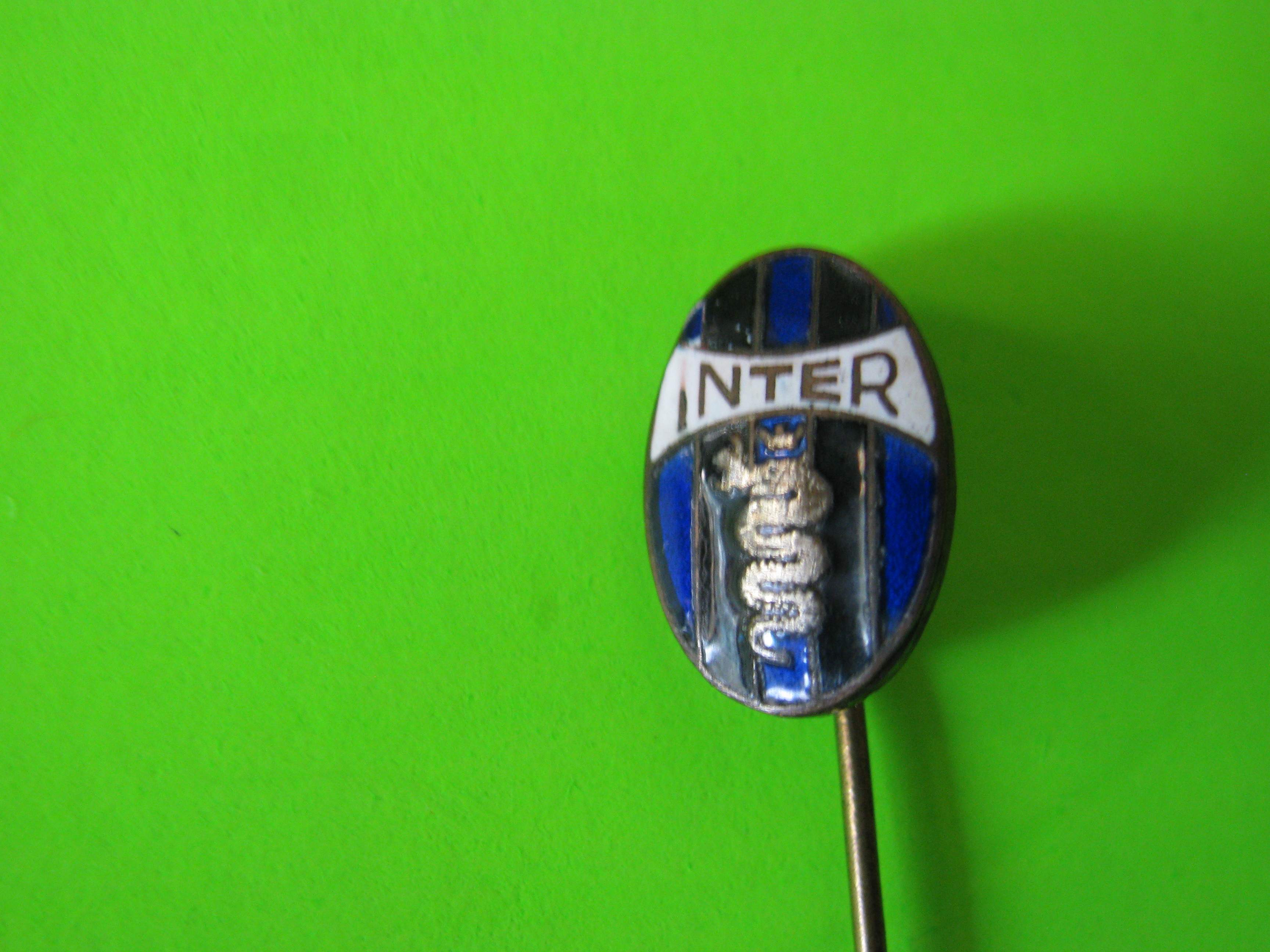 """Vintage INTER Milan Soccer Oval Shaped Stick Pin with 1 ½"""" Pin"""