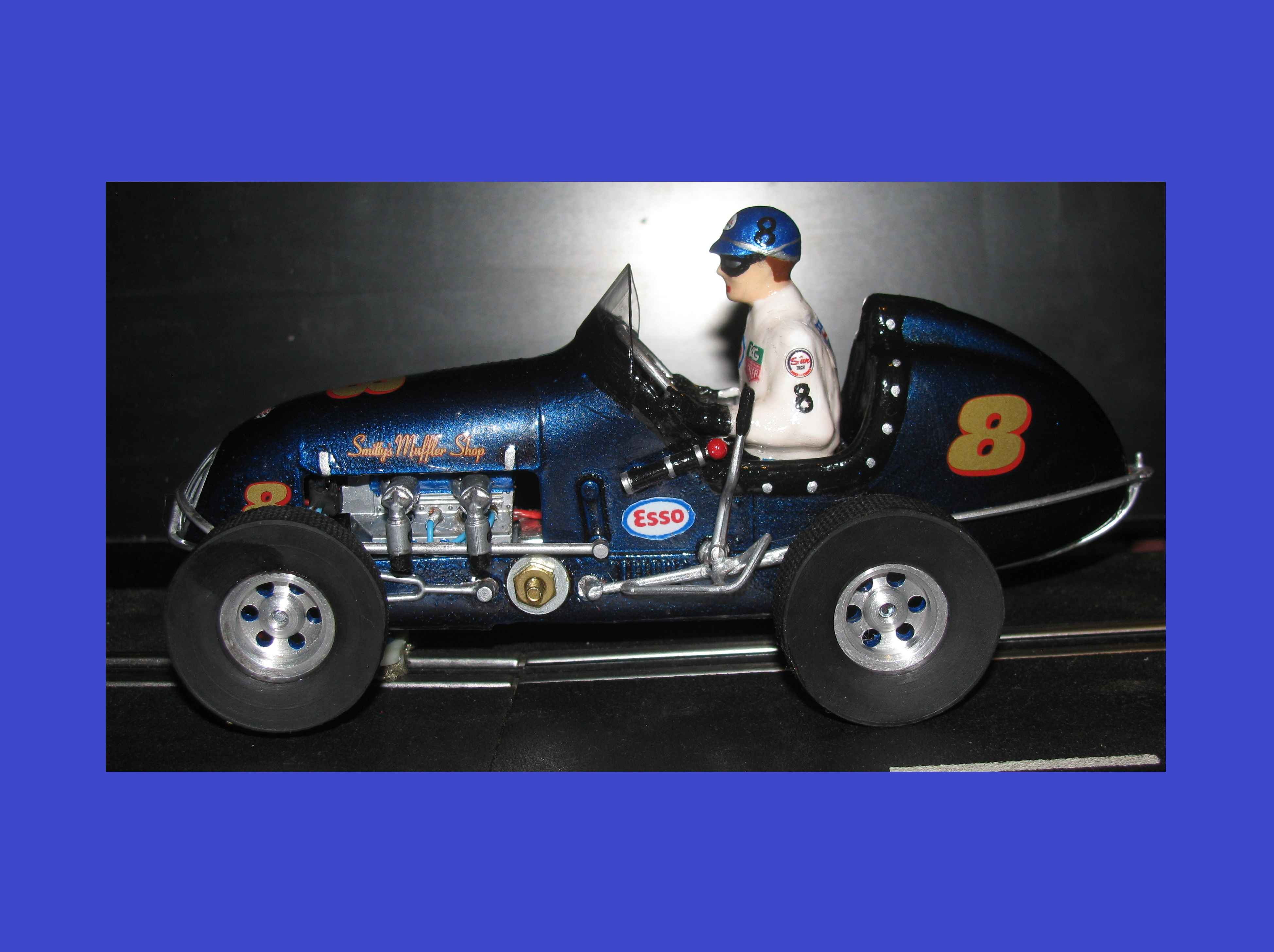 *SOLD* * Saint Patrick's Day SALE * Monogram Midget Racing Special Blue Thunder VII Slot Car #8
