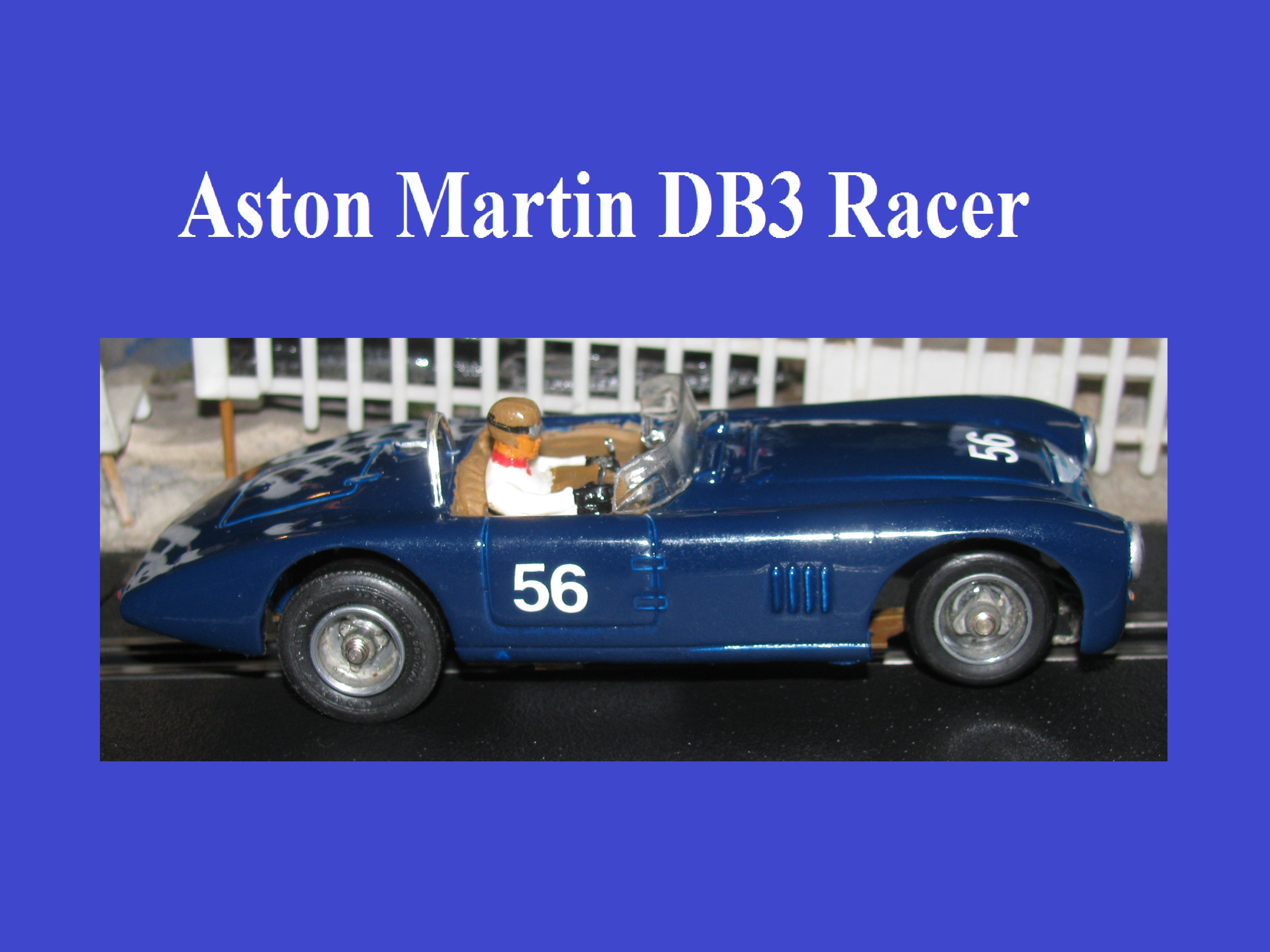* Winter is coming SALE * Vintage Monogram Aston Martin DB3 Racer – Car #56 – 1:32 Scale