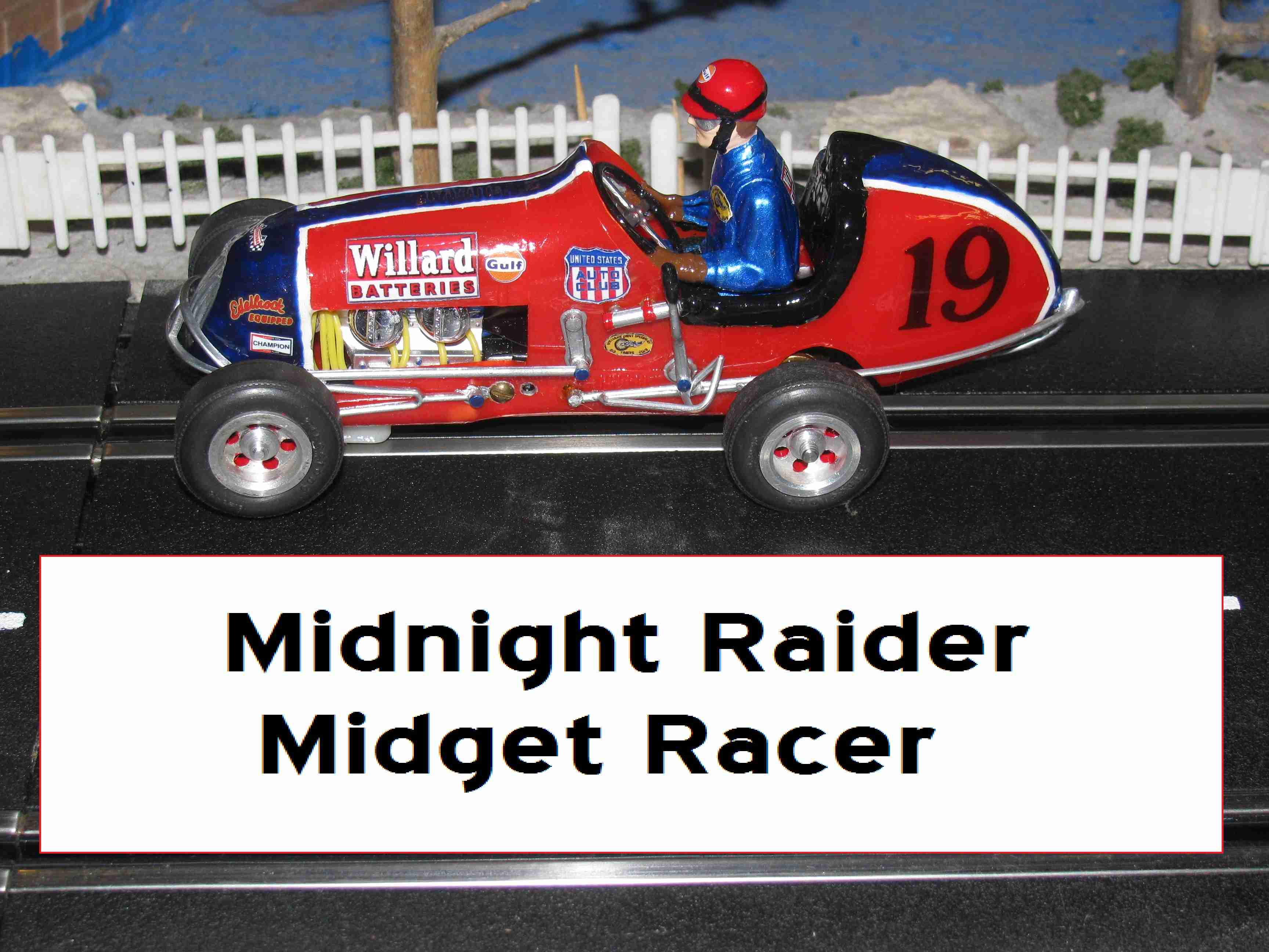 *SOLD* Sale Price - Monogram Midget Racer Midnight Raider Slot Car Racing Special – Slot Car #19