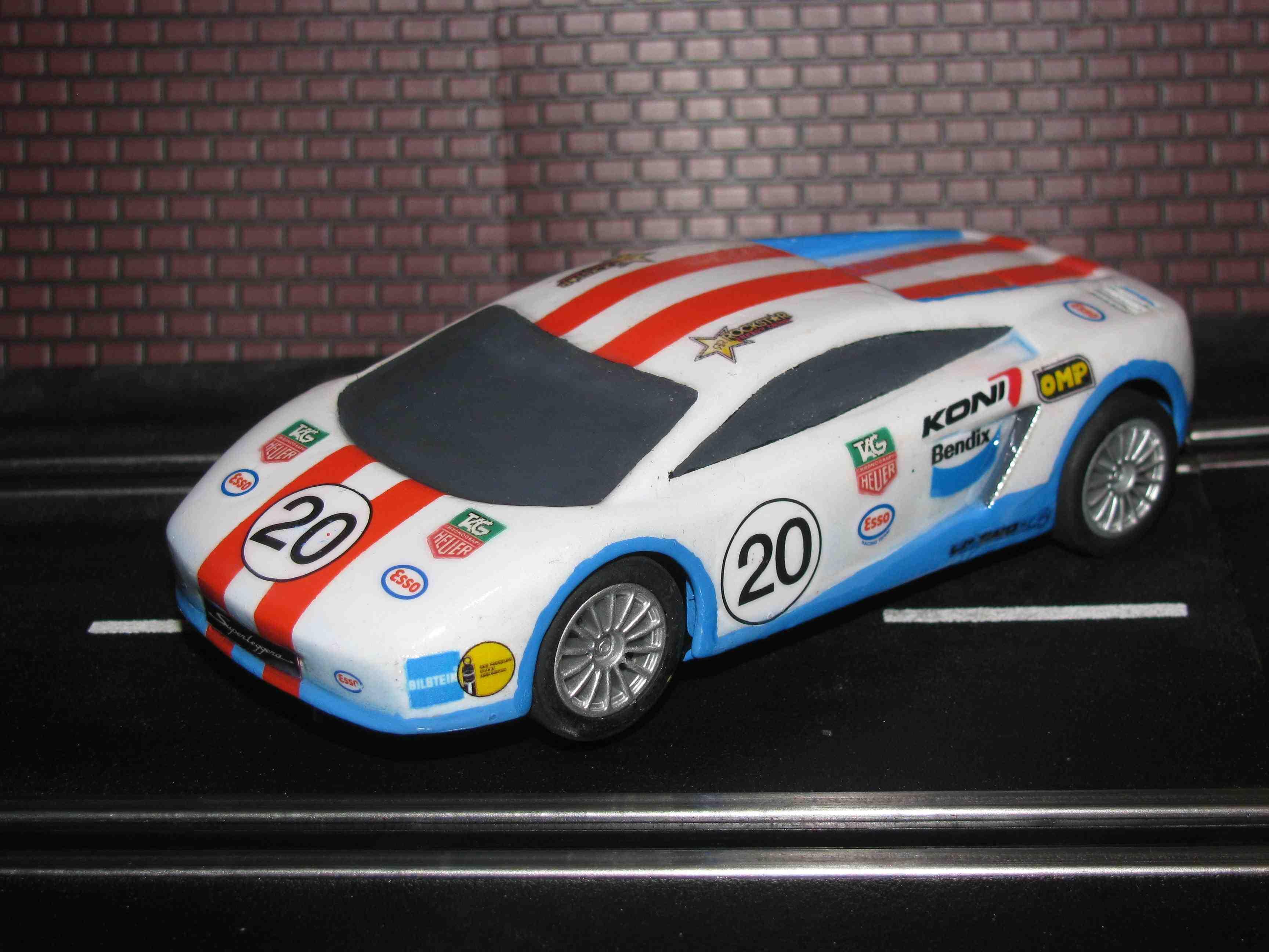 * SOLD * Scalextric/Hornby Lamborghini Gallardo Supperleggera slot car 1/32 – Car 20