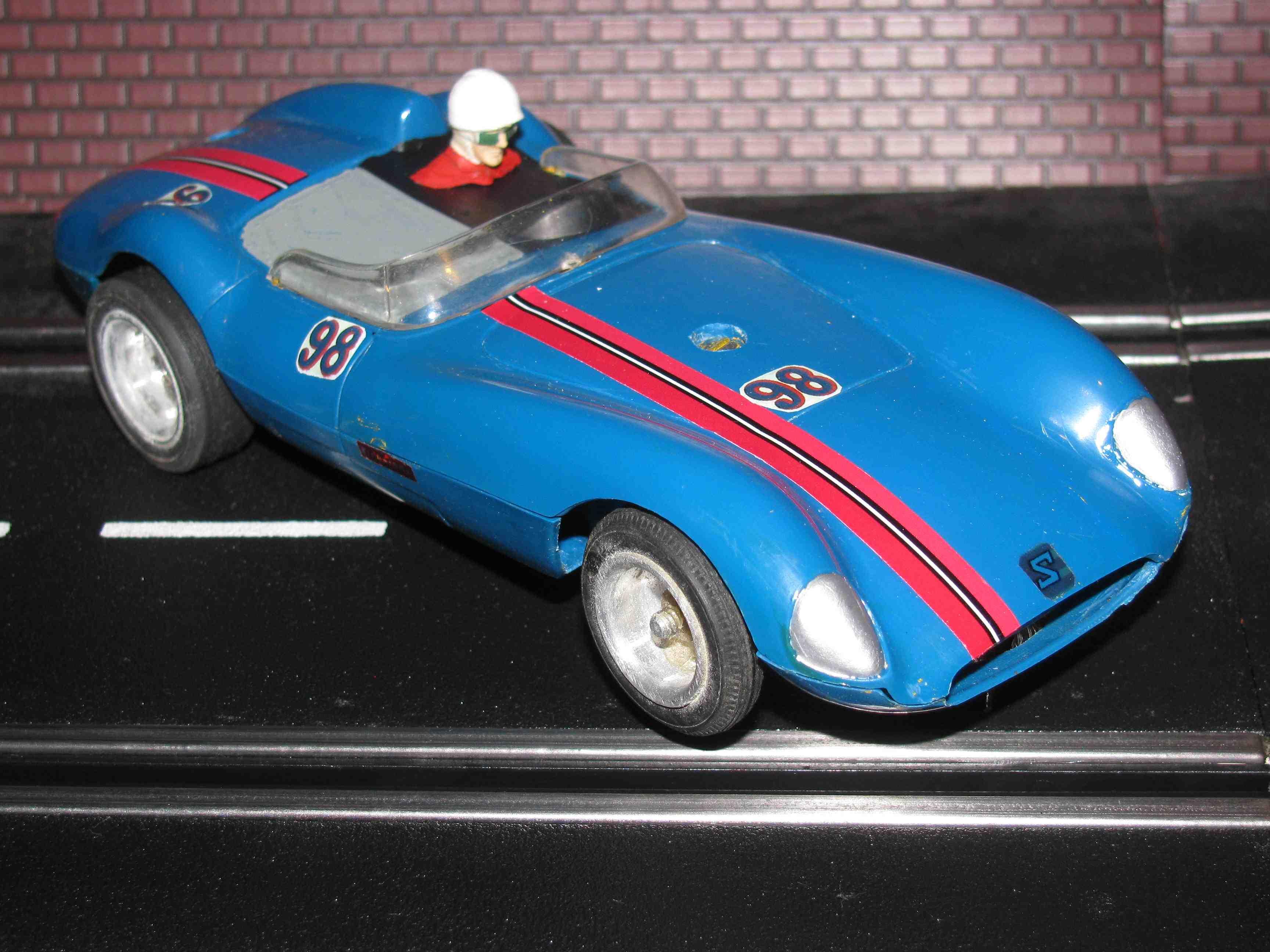 * SOLD * Vintage Blue Scarab Racer Slot Car 1/32 Scale