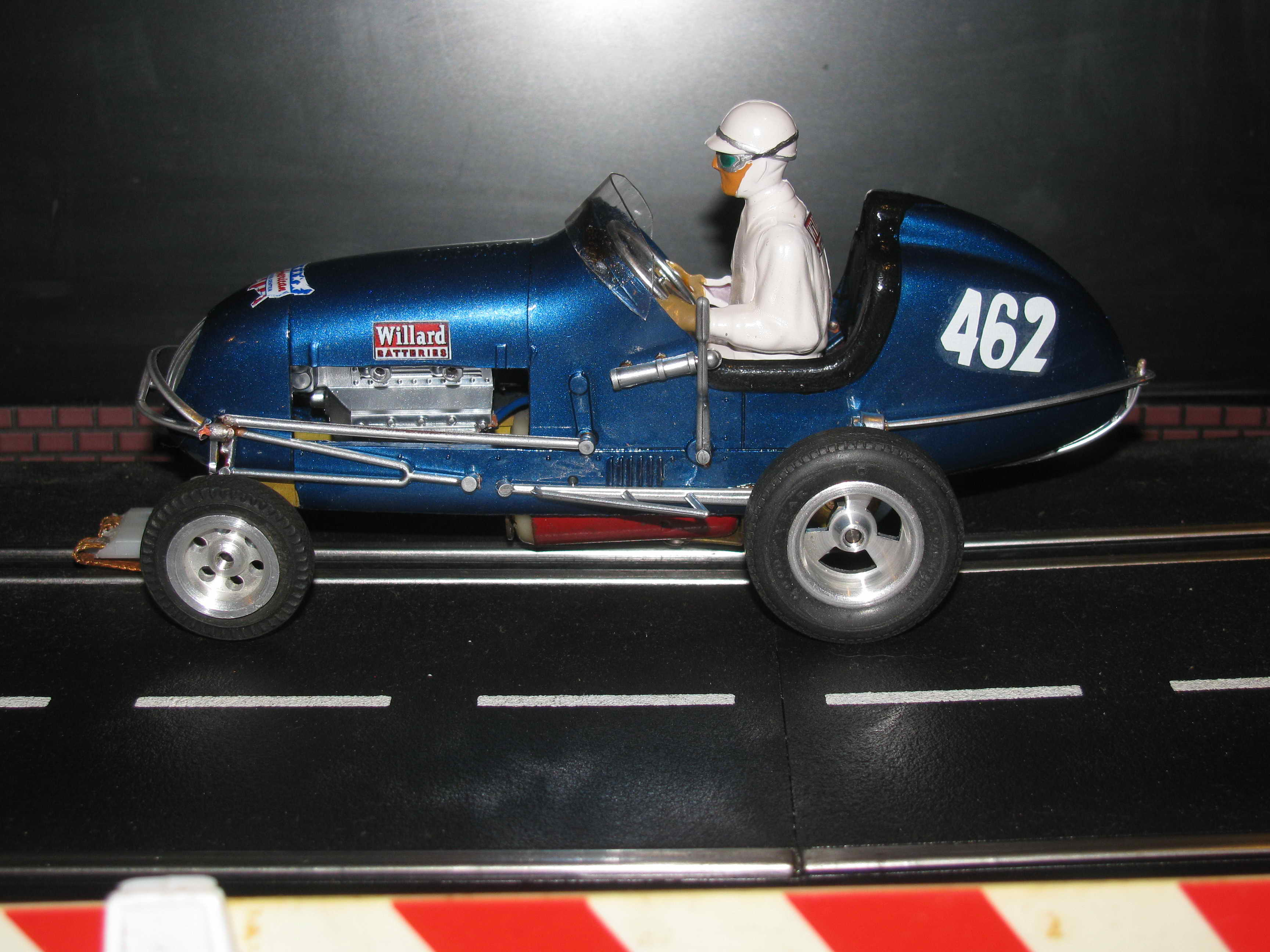 "*SOLD* *August Sale Price* Monogram 1968 Willard's 462 V8 Midget Racer ""The Blue Rocket"""