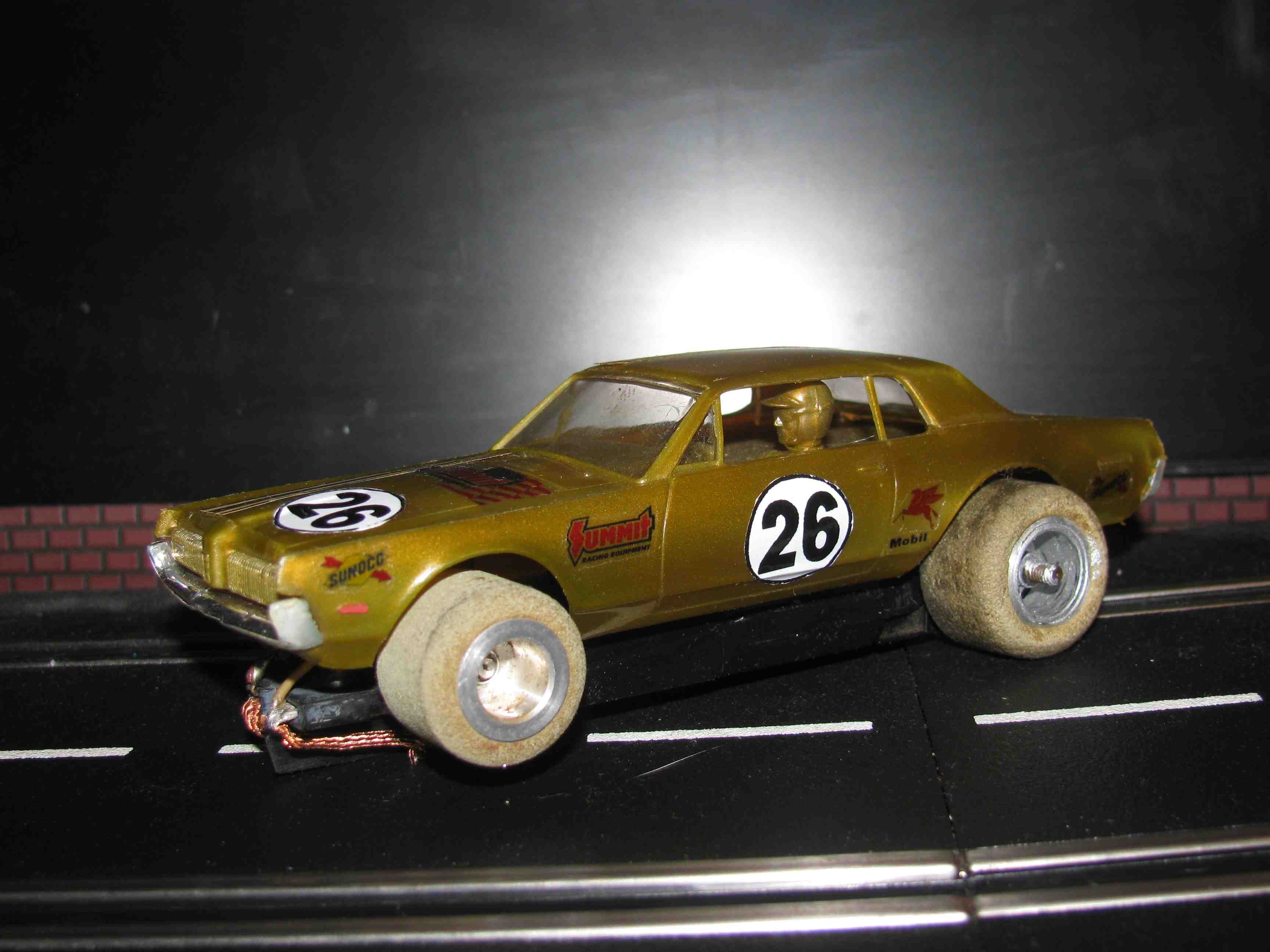 * SOLD * Vintage Revell Camaro Slot Car 1/32 Scale – Gold – Car 26