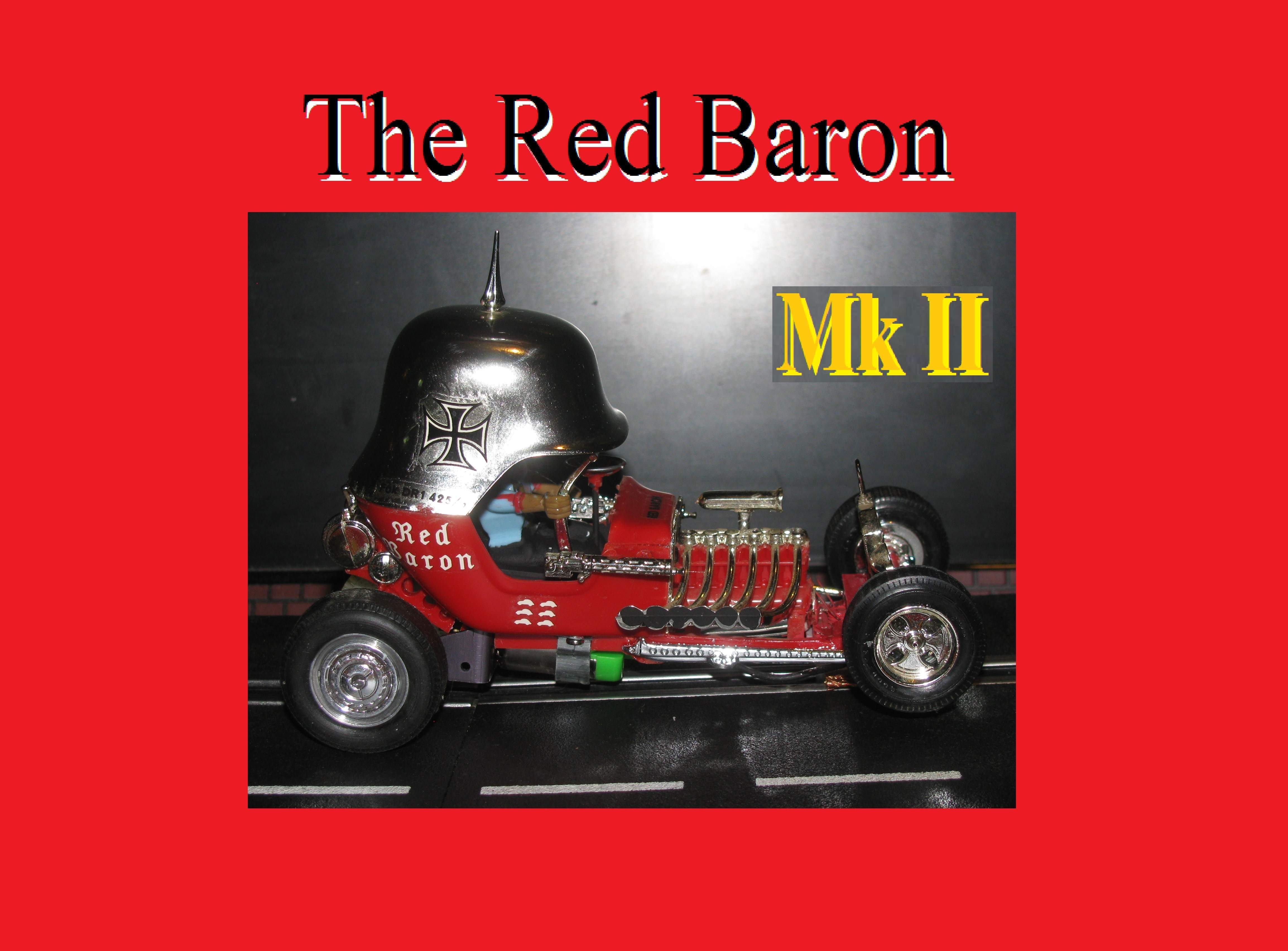 * Winter is coming SALE * Vintage Tom Daniels Monogram Red Baron Hot Rod Roadster Slot Car 1:24 Scale