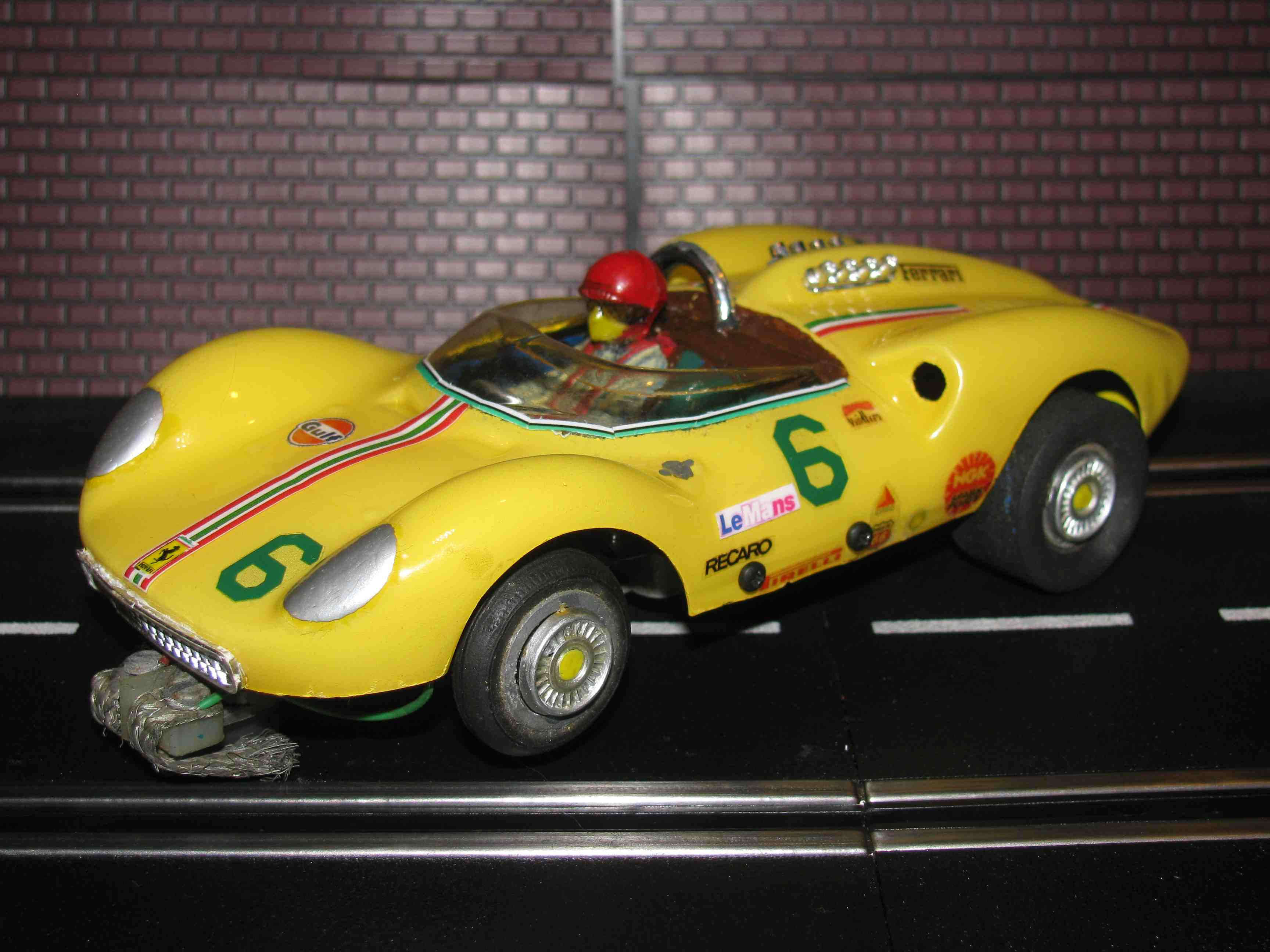 *SOLD* 1965 Ferrari Dino 166P GT Slot Car 1/24 Scale - Sun Fire Yellow - Car 6