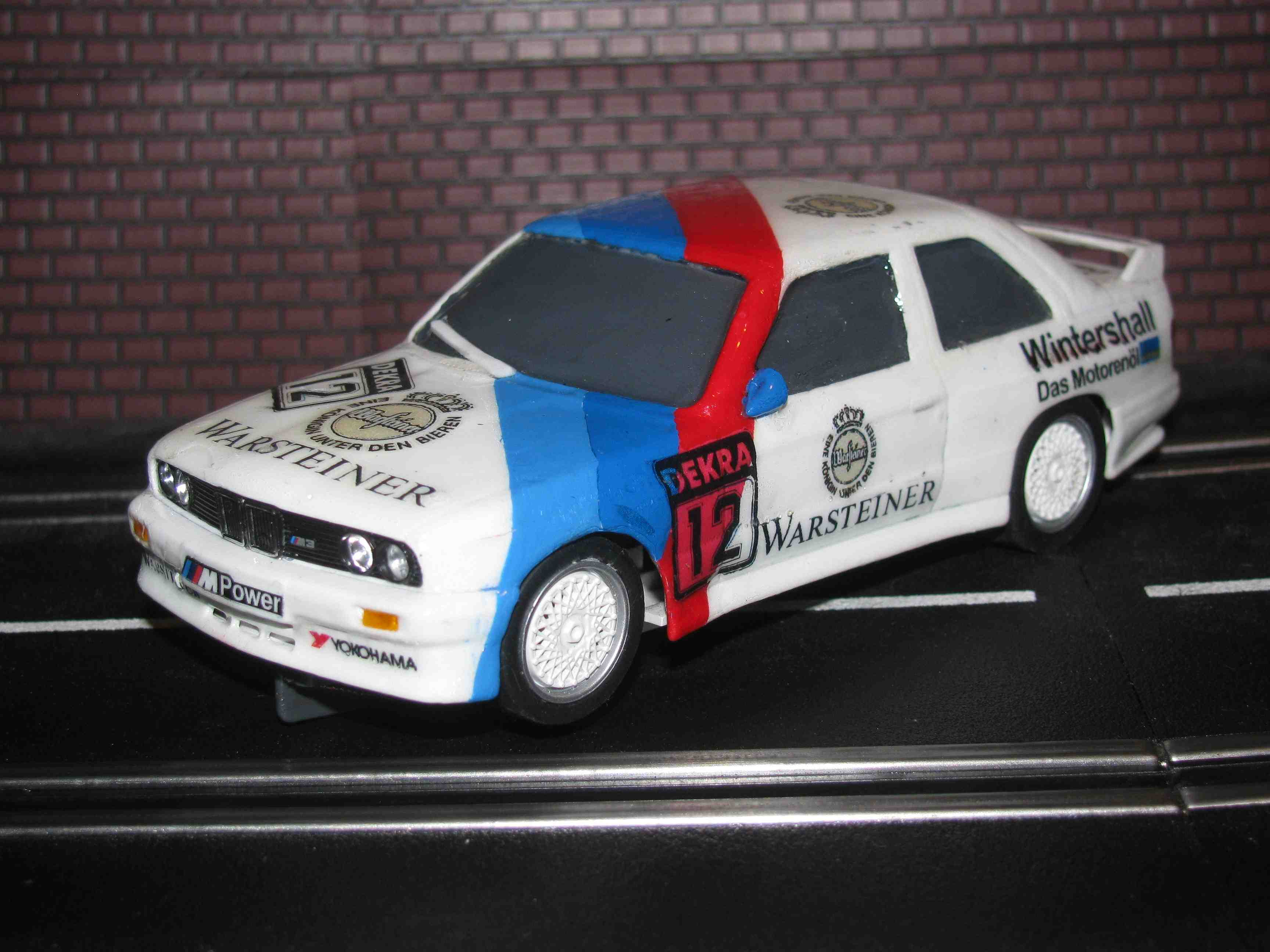 * SOLD * Fly BMW M3 E30 Mpower Wintershall Racing Slot Car 1/32 Made in Spain - Runs Very Fast