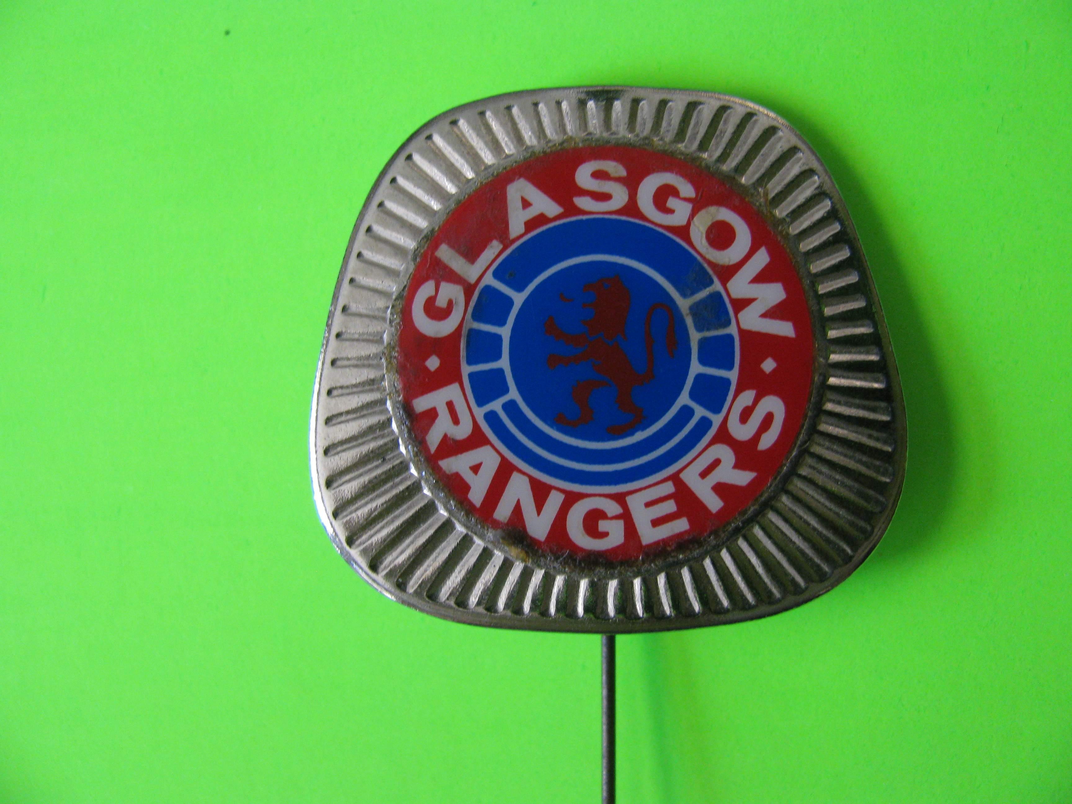 "Glasgow Rangers Football Stick Pin Metal with 1 ¼"" Long Pin"