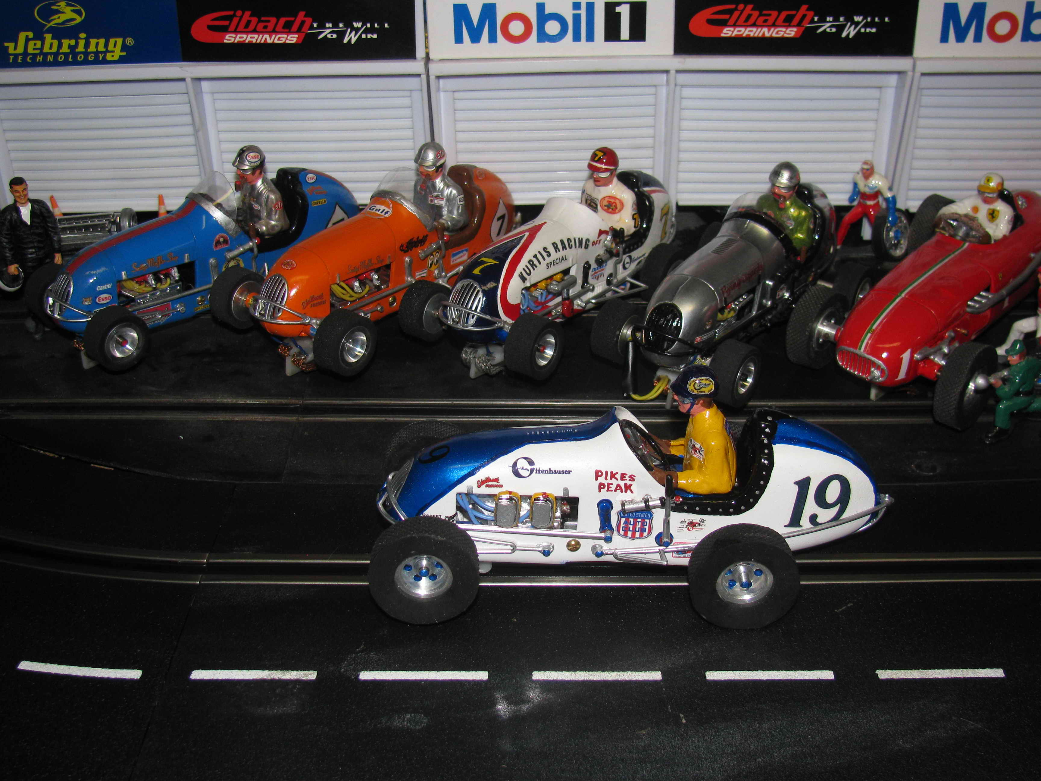 * SOLD * Pikes Peak Midget Racer Kurtis Racing Special – Slot Car #19