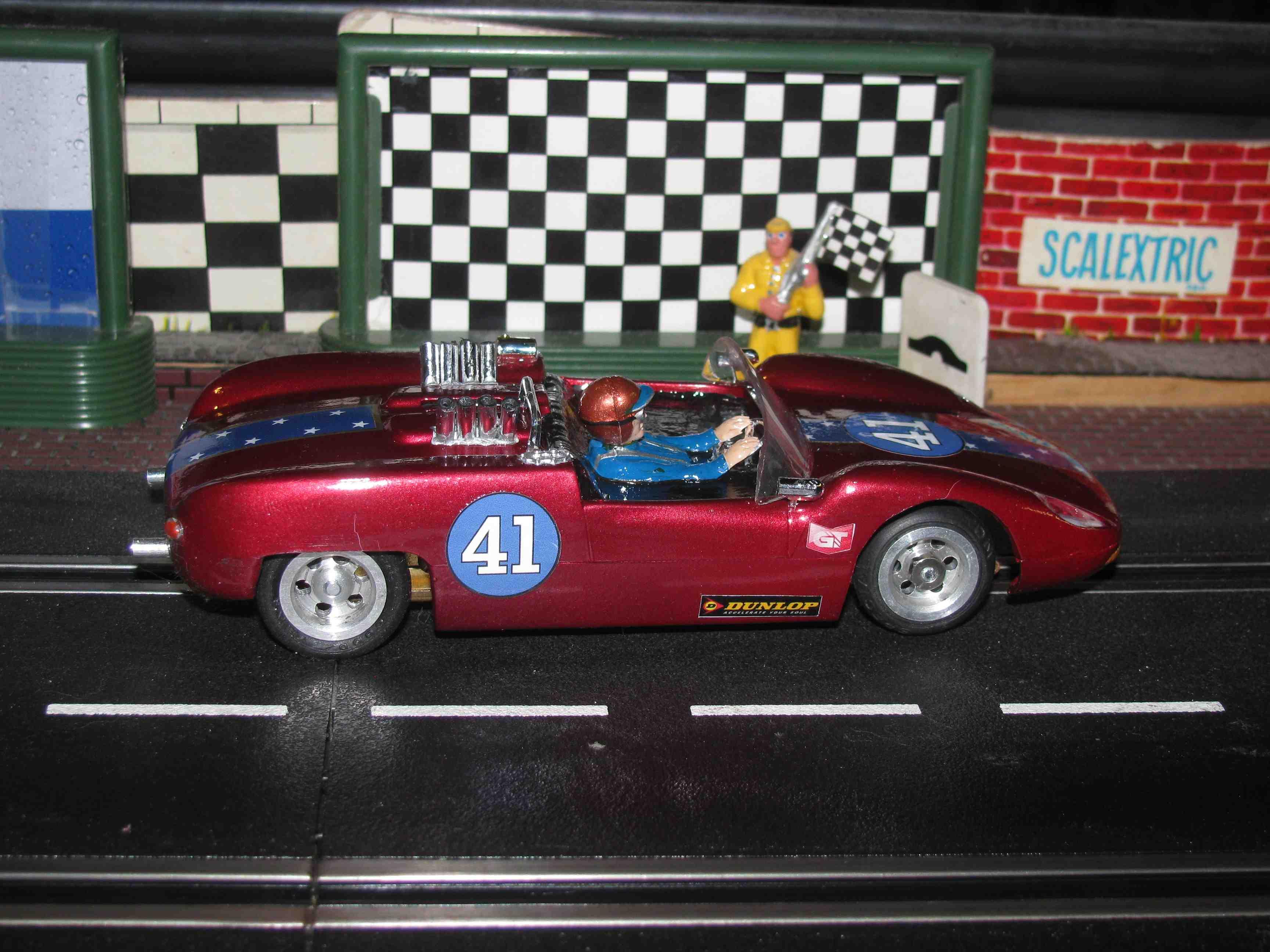 * Winter Super Sale * Vintage Mongram Scarab Slot Car 1:24 Scale – Car 41