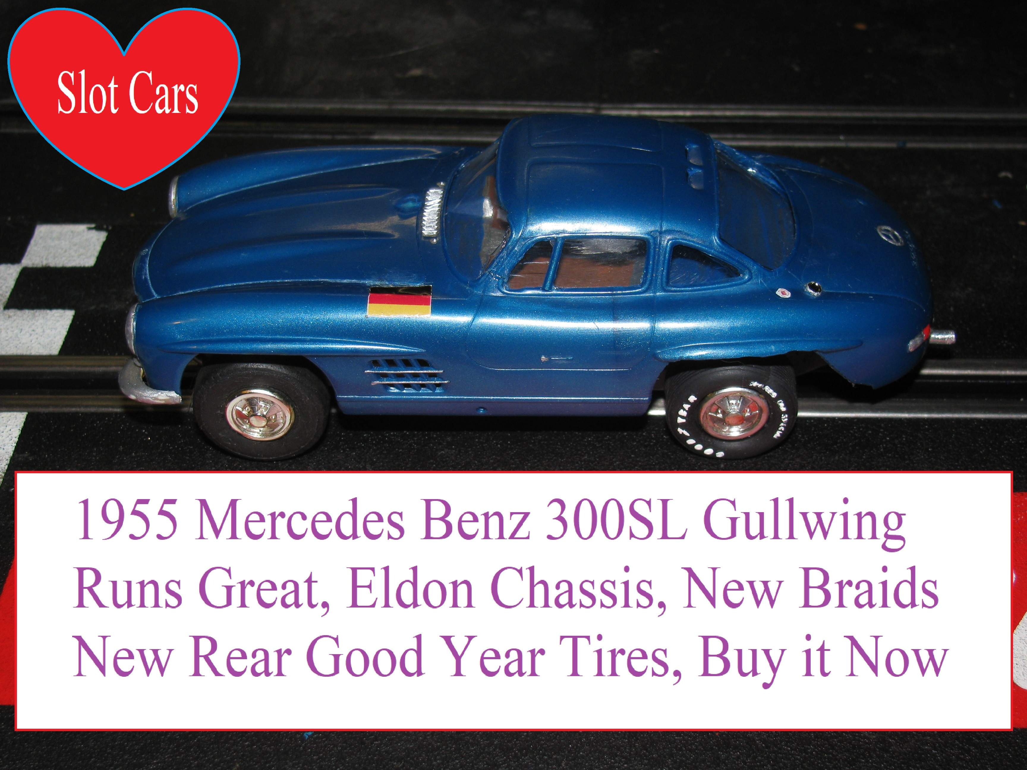 * SOLD * Vintage 1955 Mercedes Benz 300SL Gullwing in original blue, Runs Great