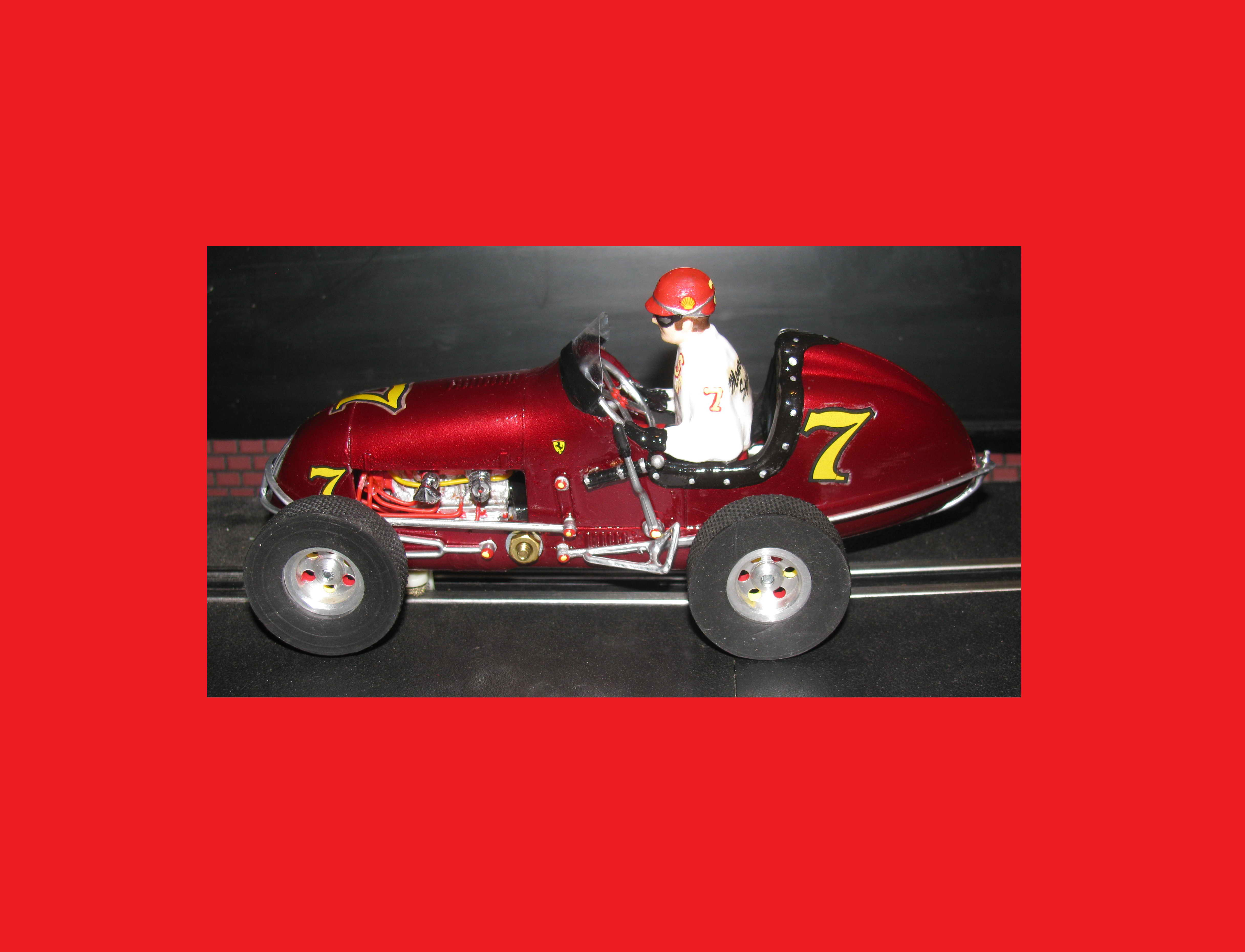 *SOLD* *SPECIAL FOR CHARLES E.* Midget Racer Metallic Red Monogram Racing Special #7