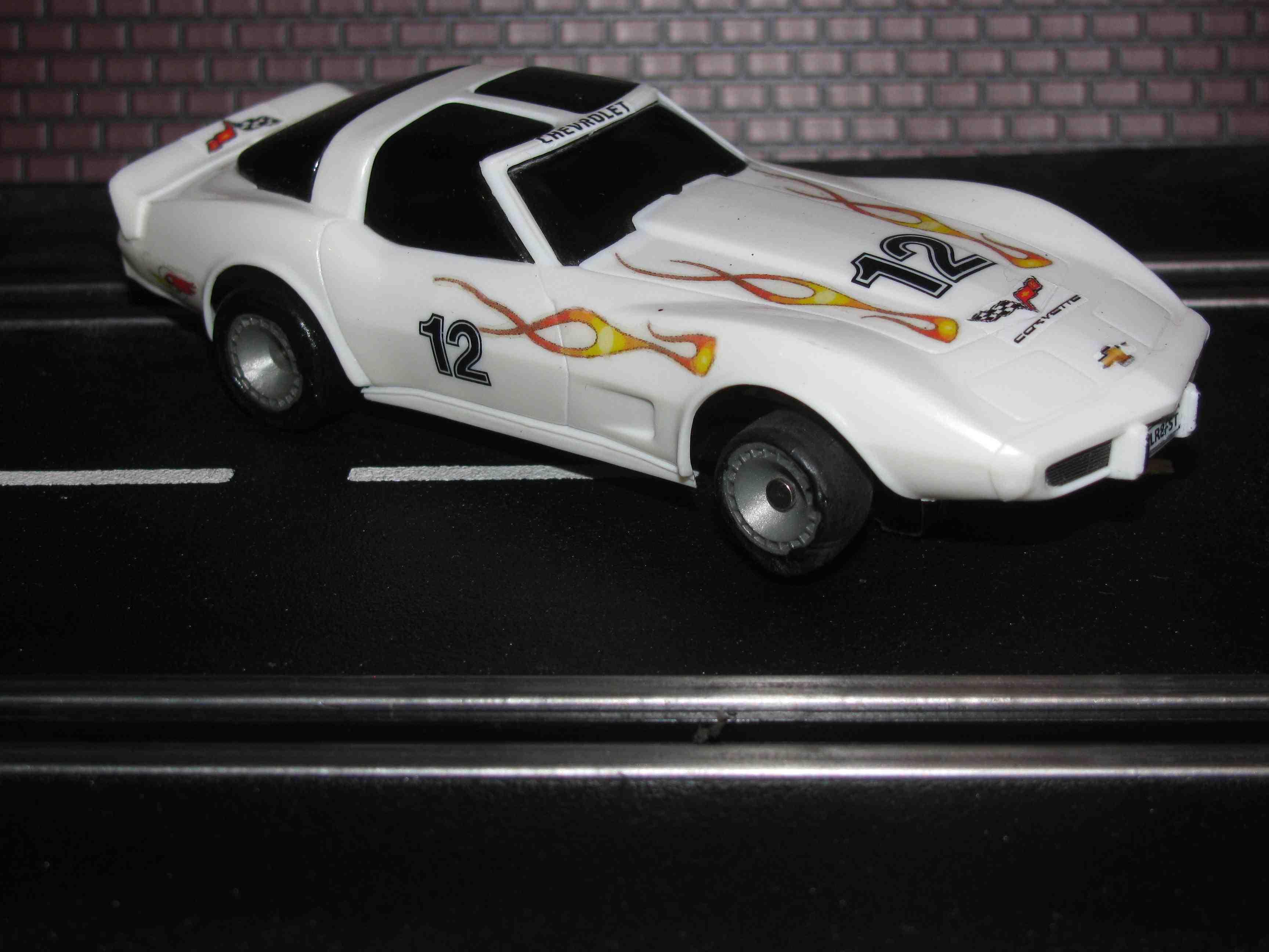SuperTrax Bachmann Corvette Slot Car 1/32 Scale Bachmann