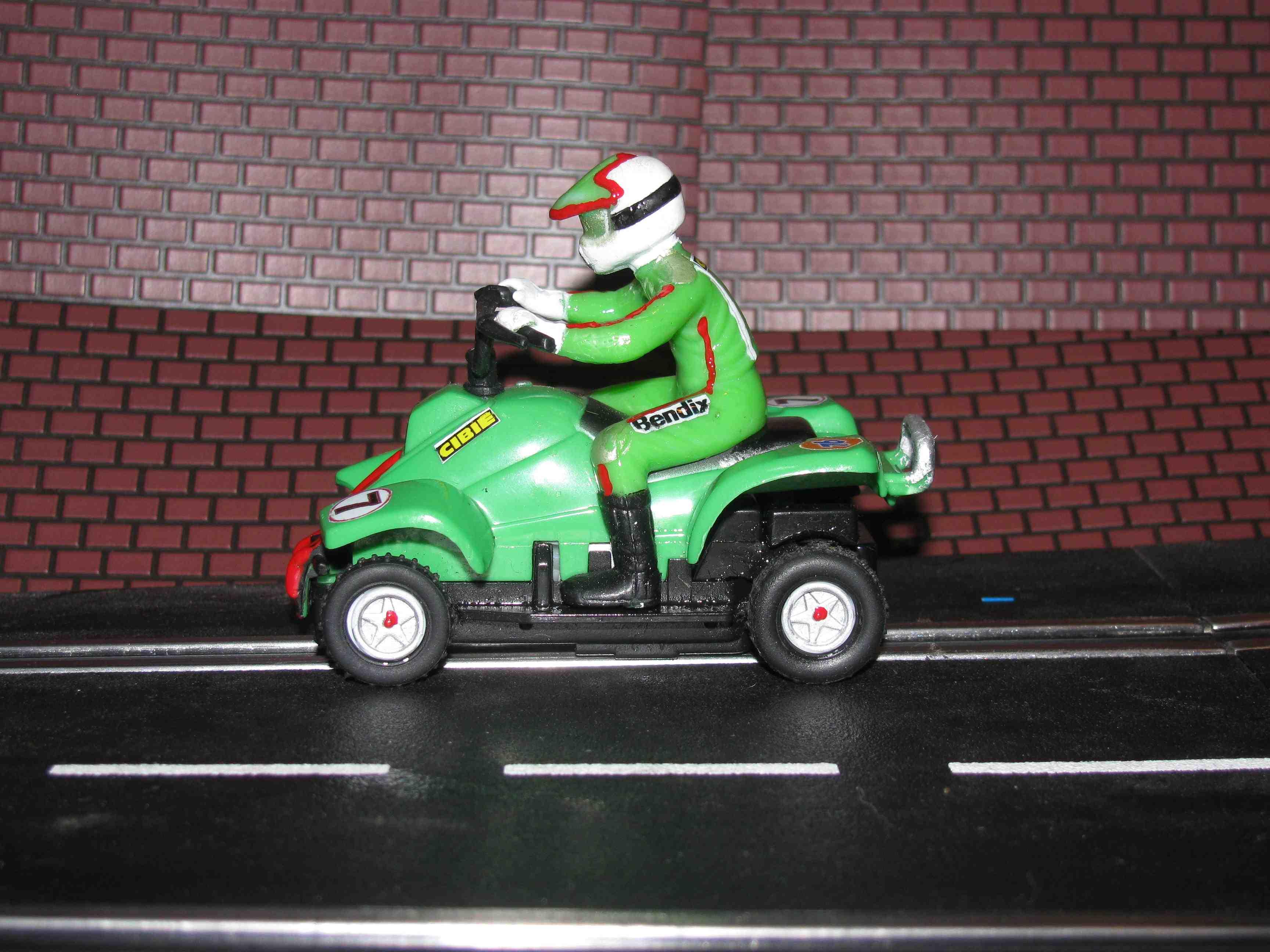 *** SOLD *** Slot Car 1/43 scale QUAD ATV Slot Car Racer #7 – Green