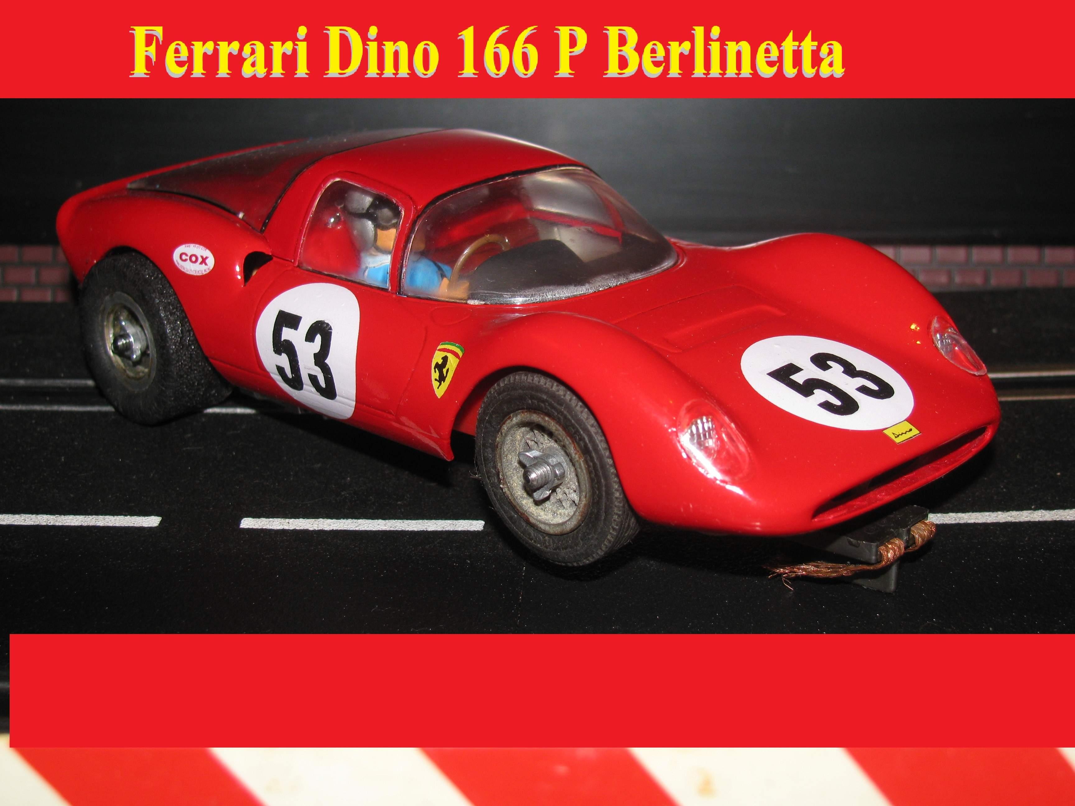* Happy New Year Sale * COX Ferrari Dino 166 P Berlinetta 1:24 Scale Vintage Original Car #53