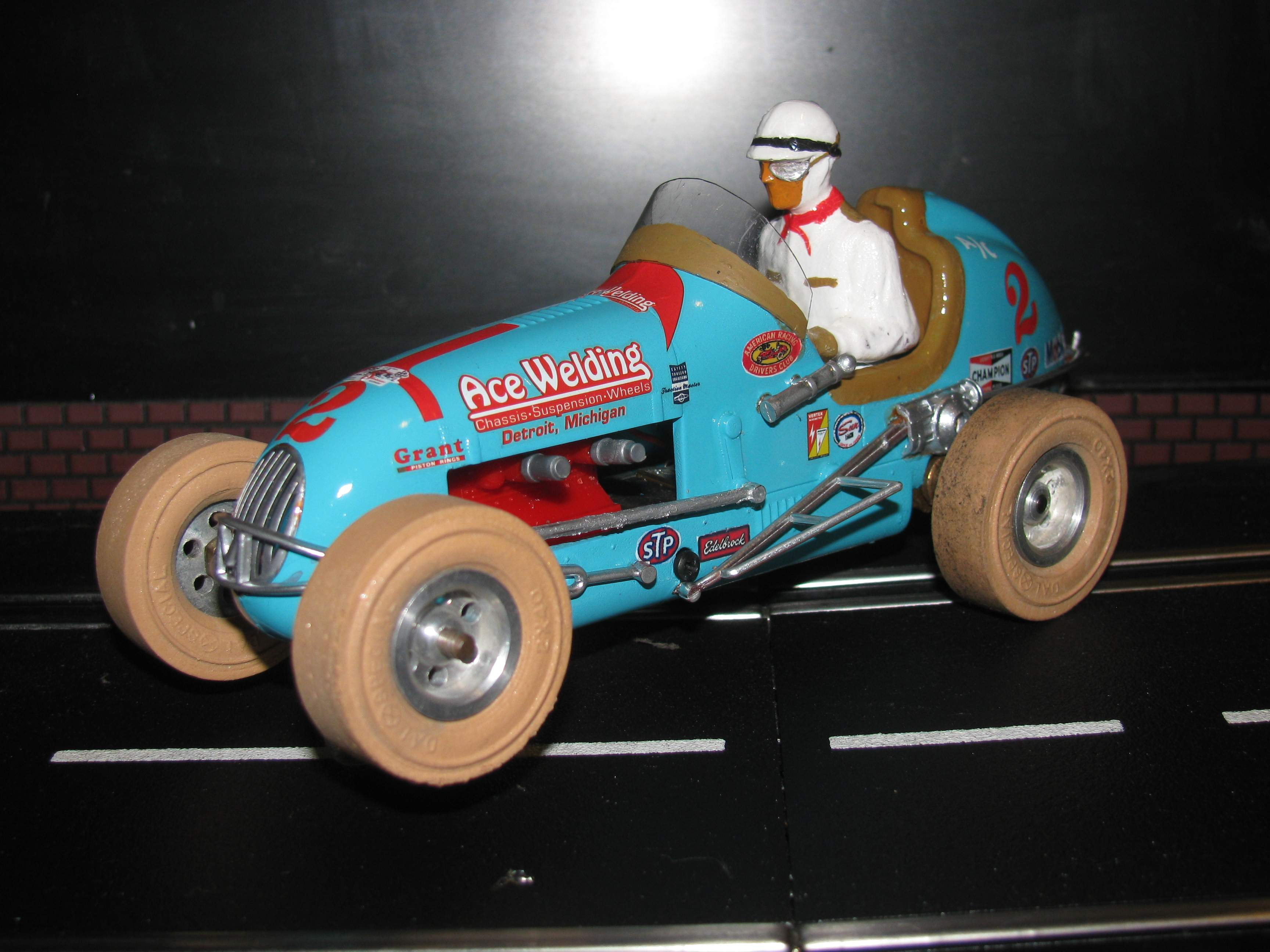 "* SOLD * Vintage Monogram Midget Racer Slot Car 1/24 Scale ""Ace Welding"""