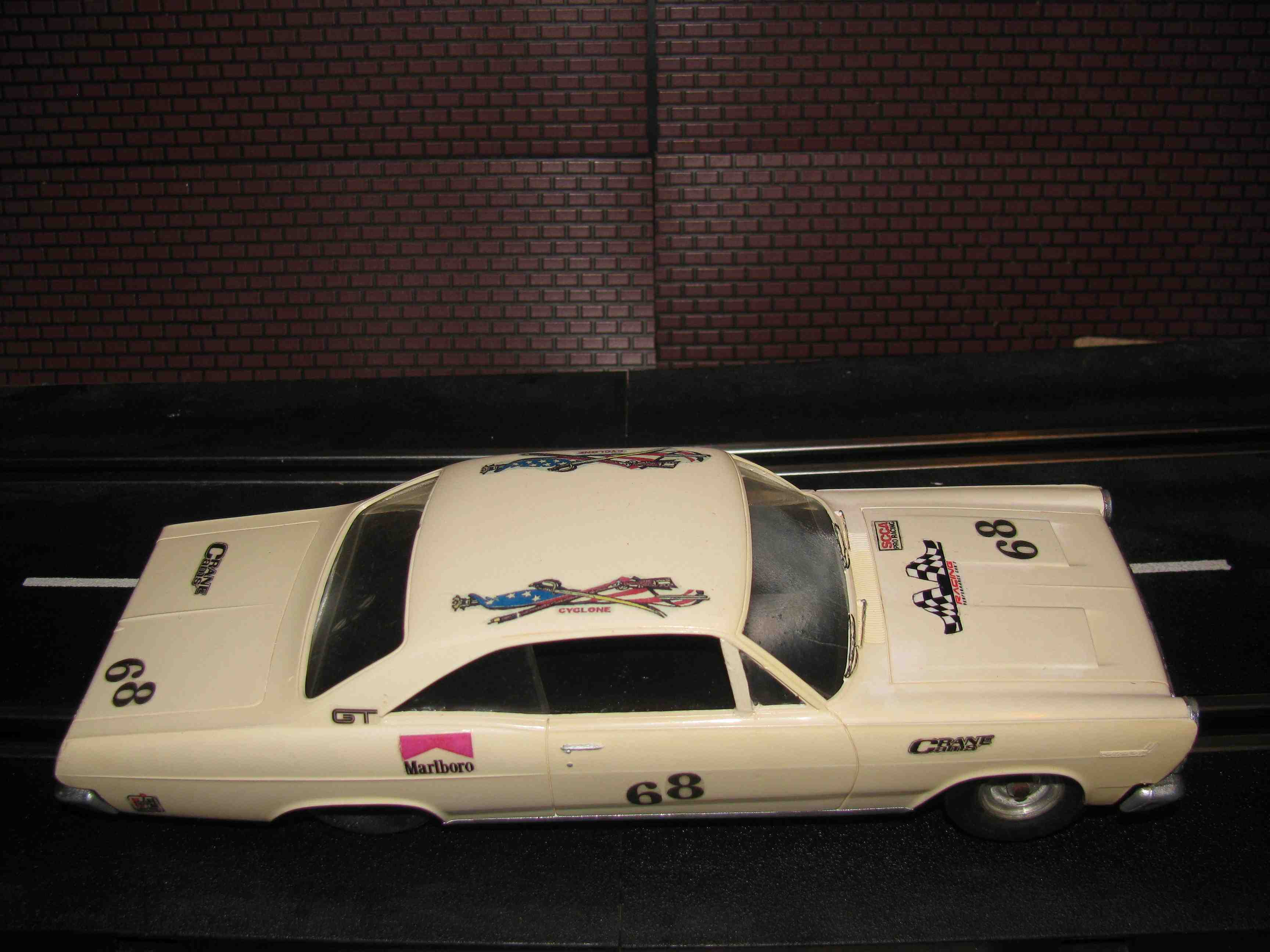 * SOLD * Extremely Rare 1966 Mercury Comet Cyclone Slot Car - 1/24 Scale