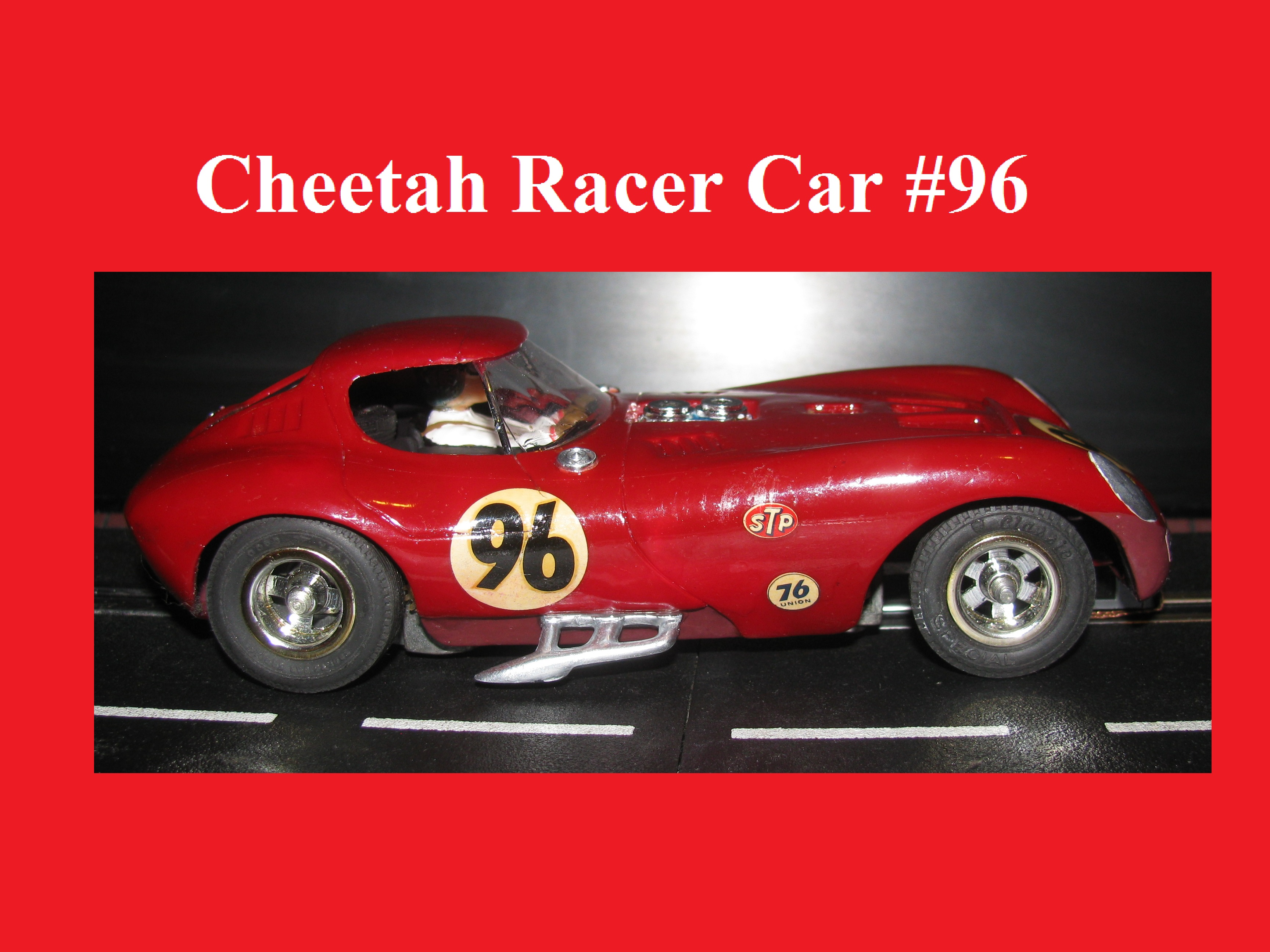 * Winter is coming SALE * Vintage COX Cheetah Racing Car #96 - 1:24 Scale