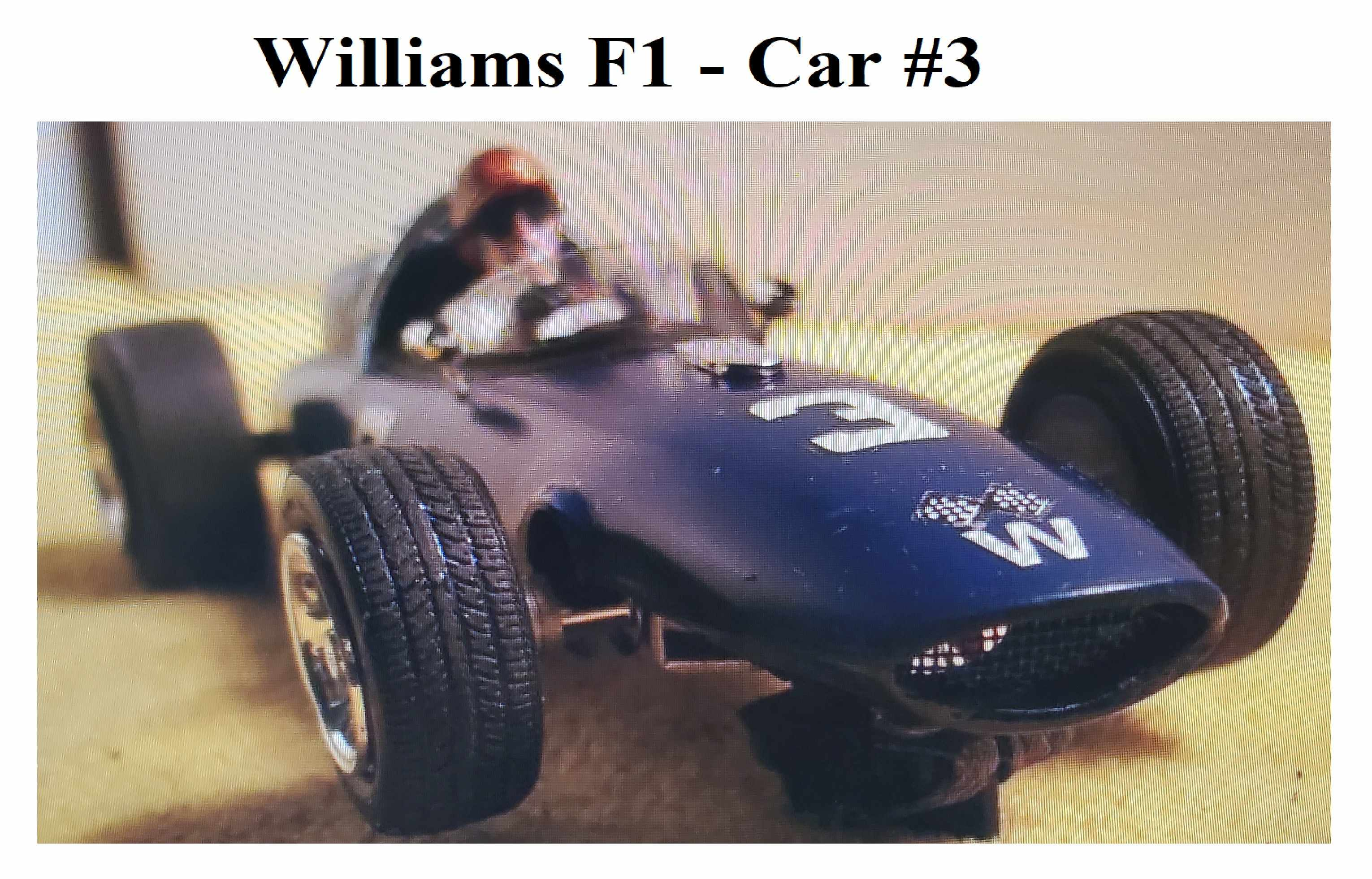 * SOLD * * Special Price, Reserved for Chris C. ONLY * AMT Williams F1 Slot Car 1:24 Scale - Car 3