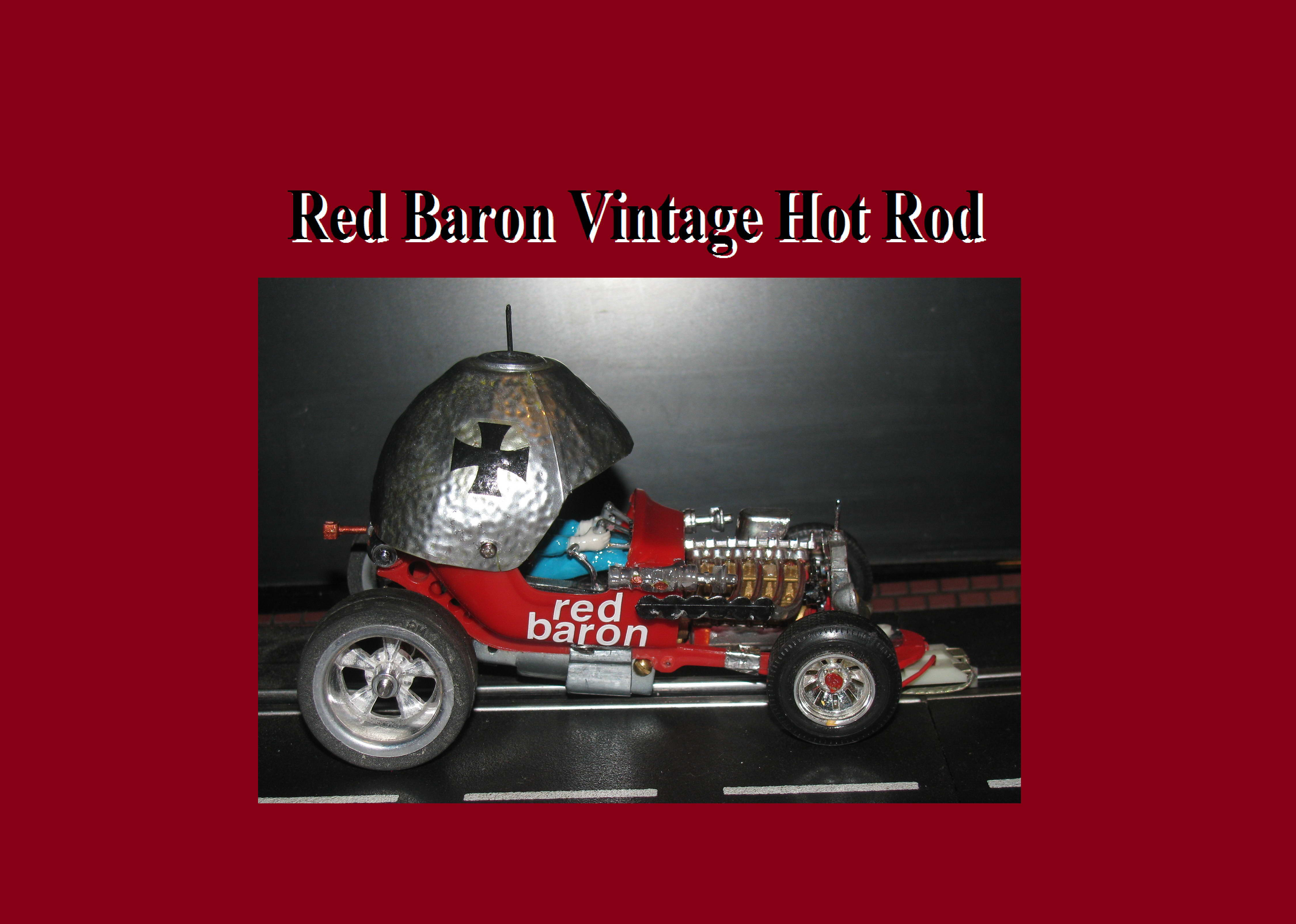 * SOLD * Vintage Revell Red Baron Hot Rod Roadster Slot Car 1:24 Scale