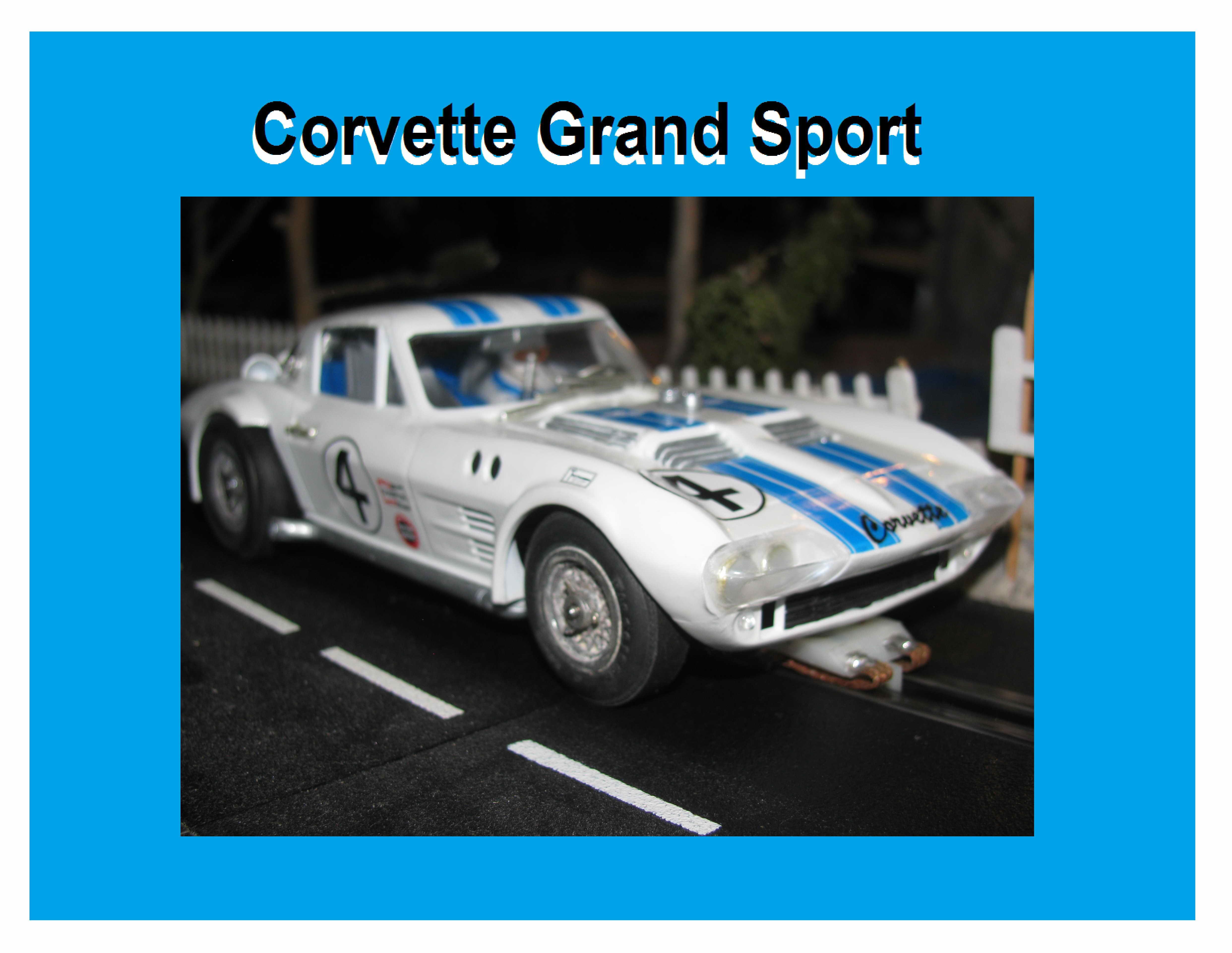 * SOLD * COX Ultimate 1964 Corvette Grand Sport 1/24 Scale Slot Car