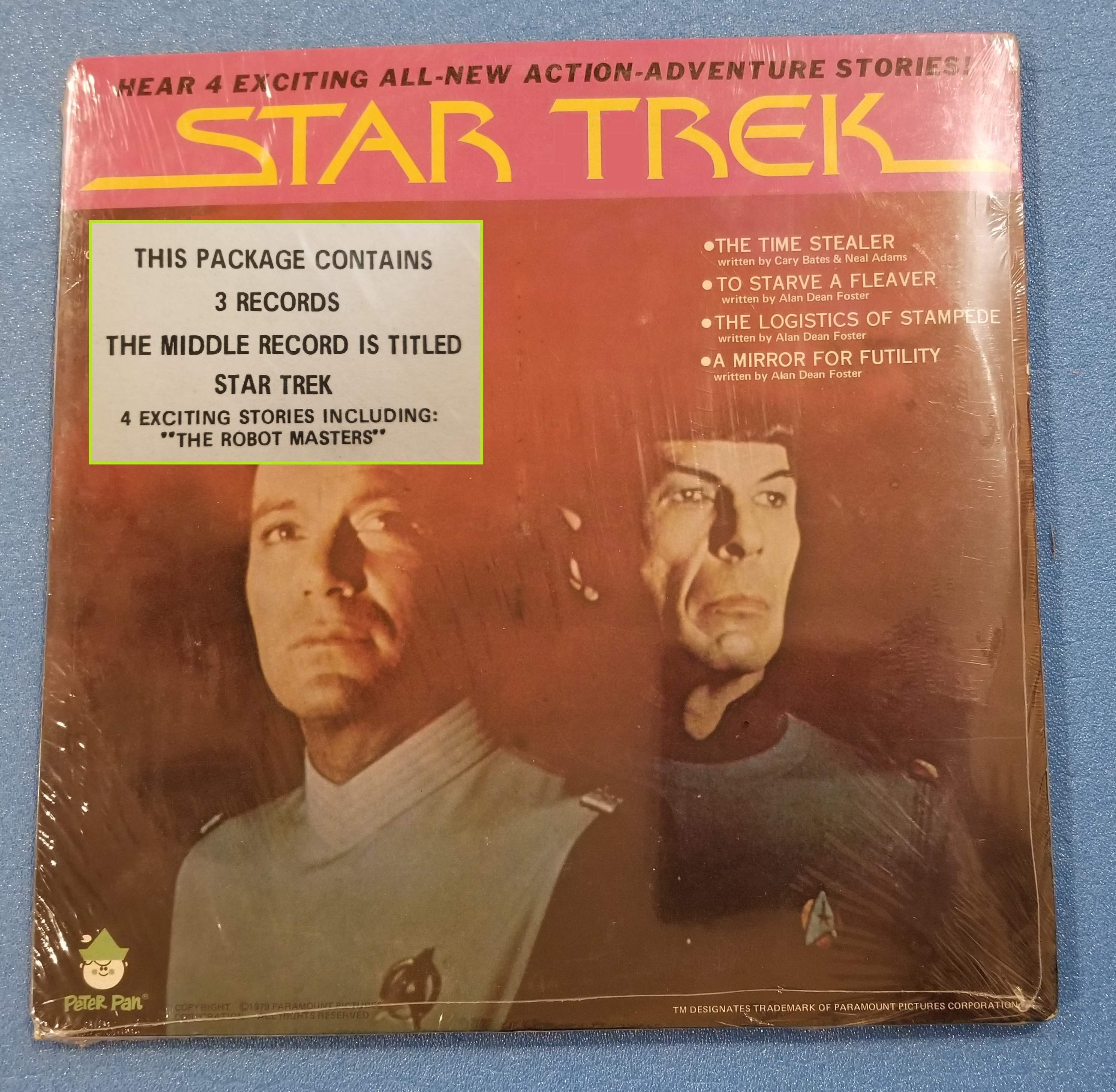 Star Trek 3 Story Set SEALED/Brand New Old Stock (Passage to Moauv, In Vino Veritas, The Crier in Emptiness)