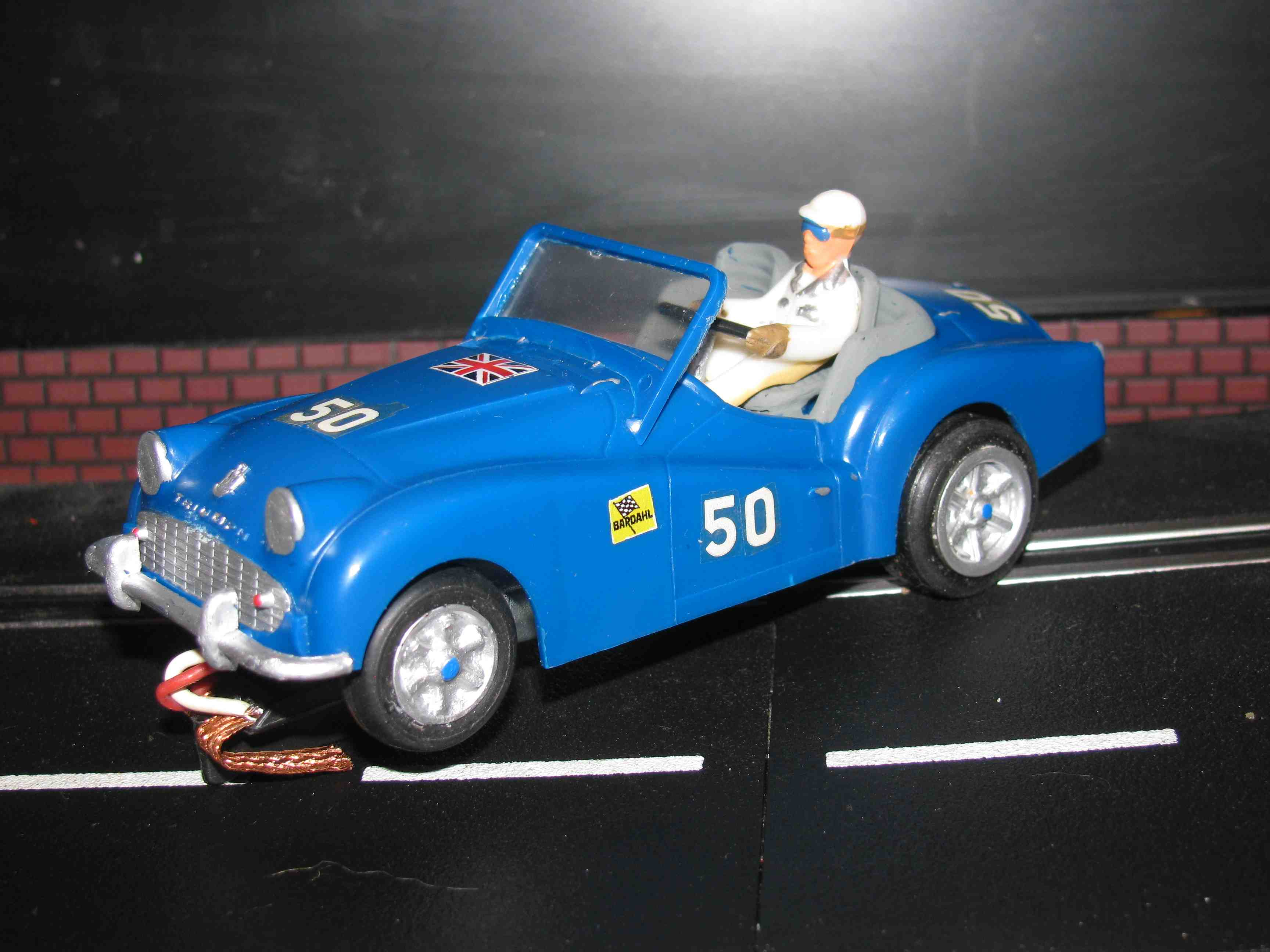 * SOLD * Vintage Triumph TR3 Racer Slot Car 1/32 Scale