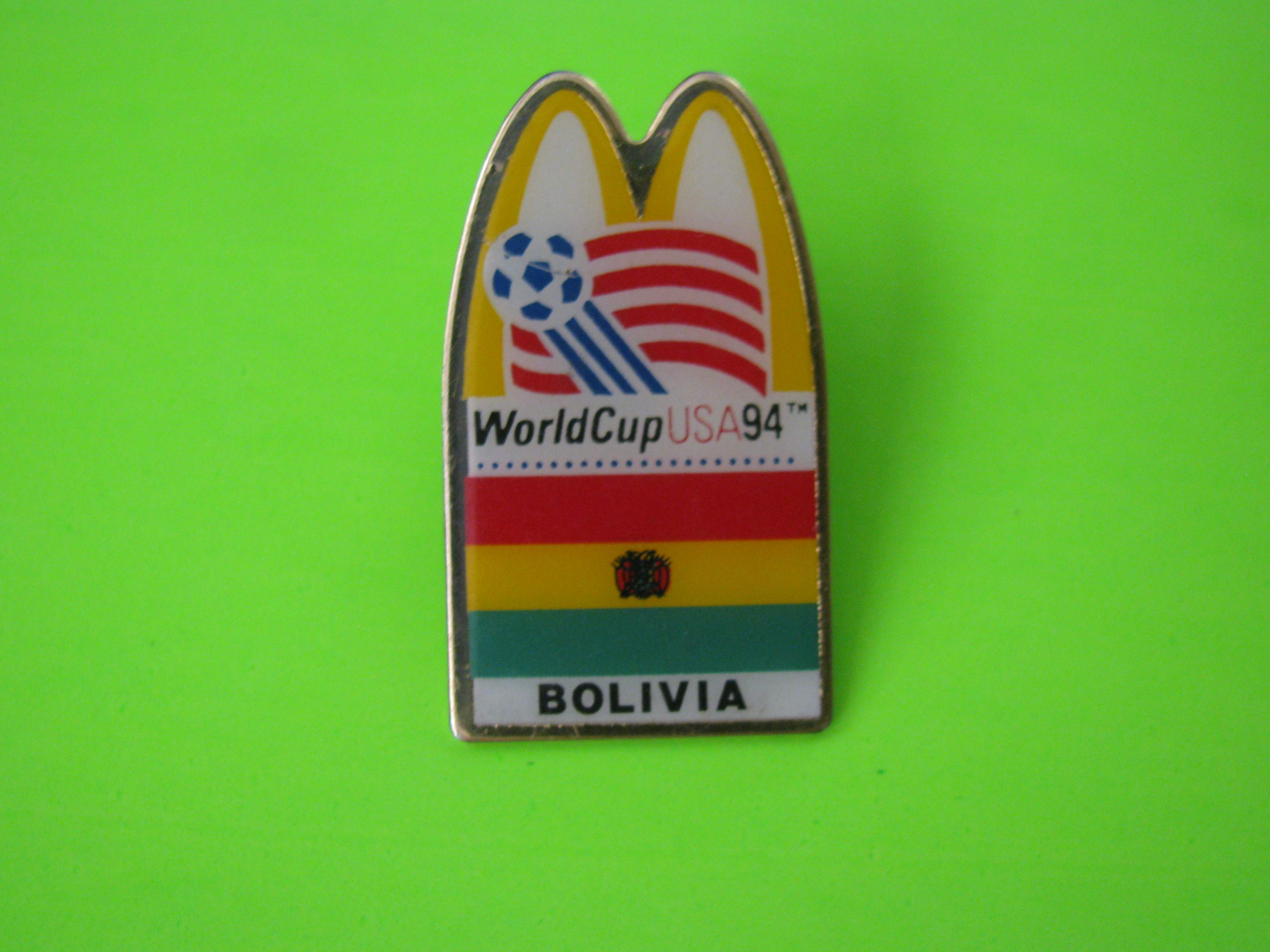 1994 World Cup USA McDonald's Team Bolivia Soccer Pin with Butterfly Clutch