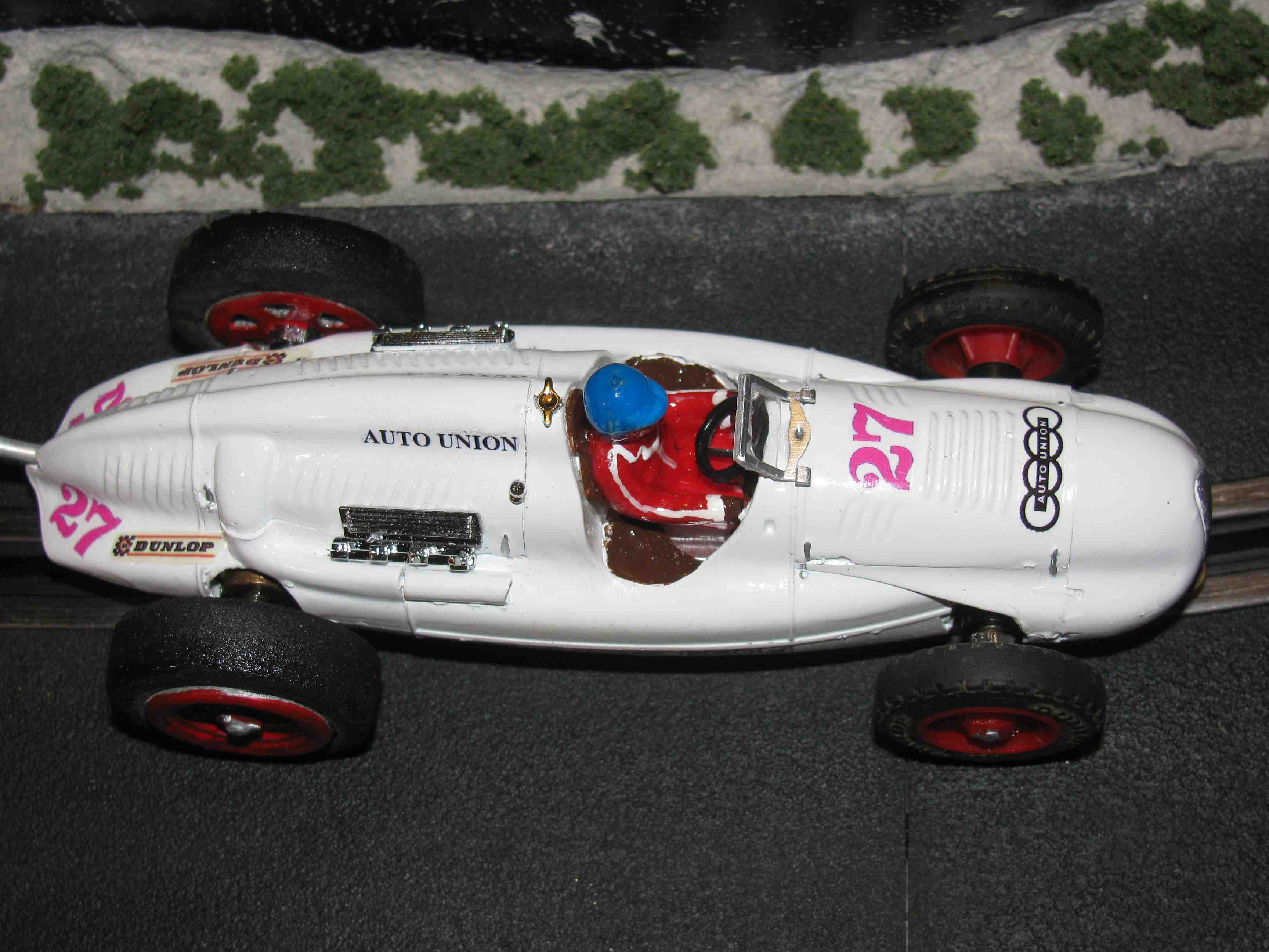 *SOLD* Rare 1938/39 Auto Union Type D' tag White Proto Type Racer Slot Car 1/32 Scale – Car #27