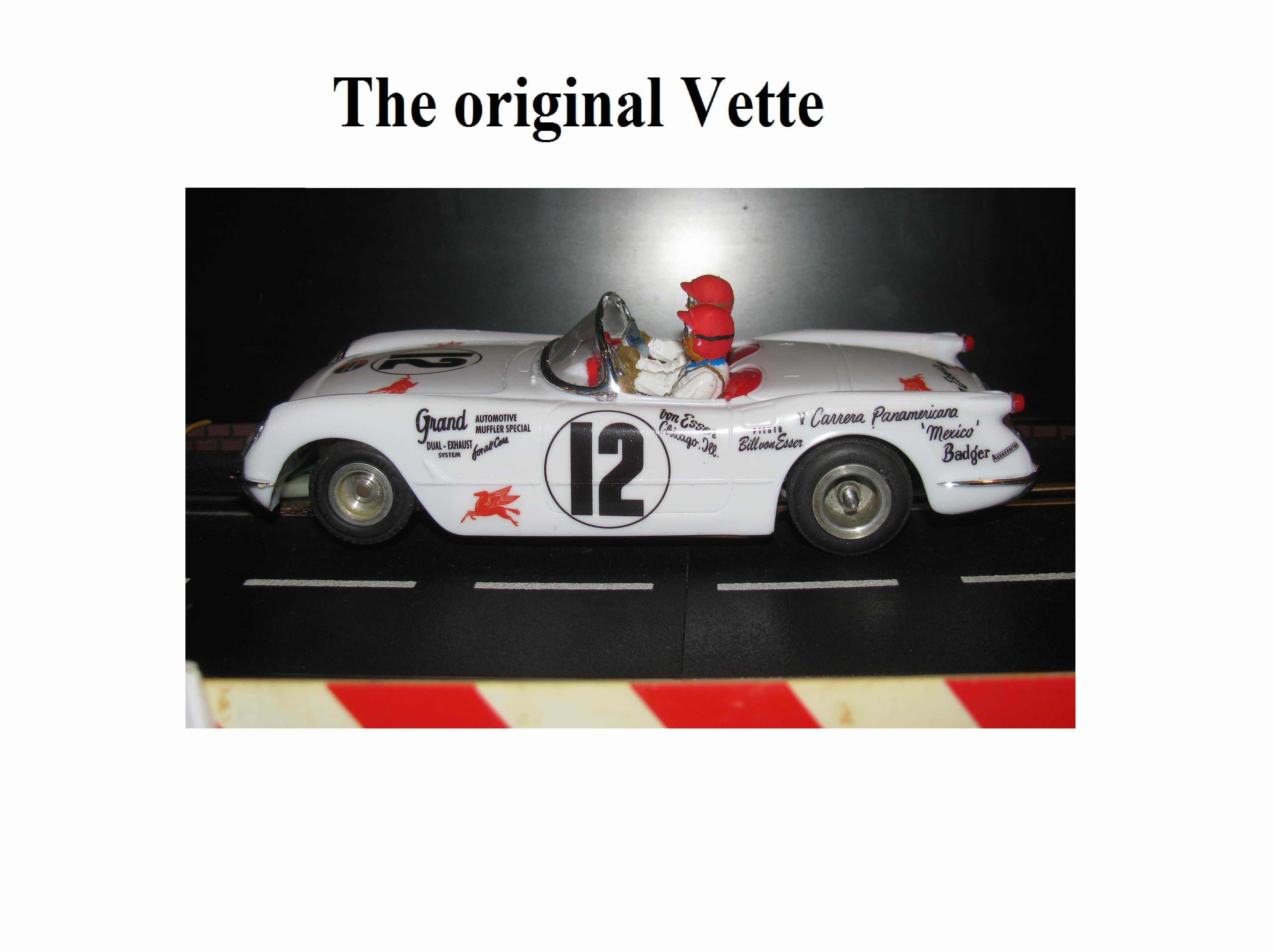 * SOLD * 1953 Chevy Corvette Roadster Slot Car 1/24 Scale