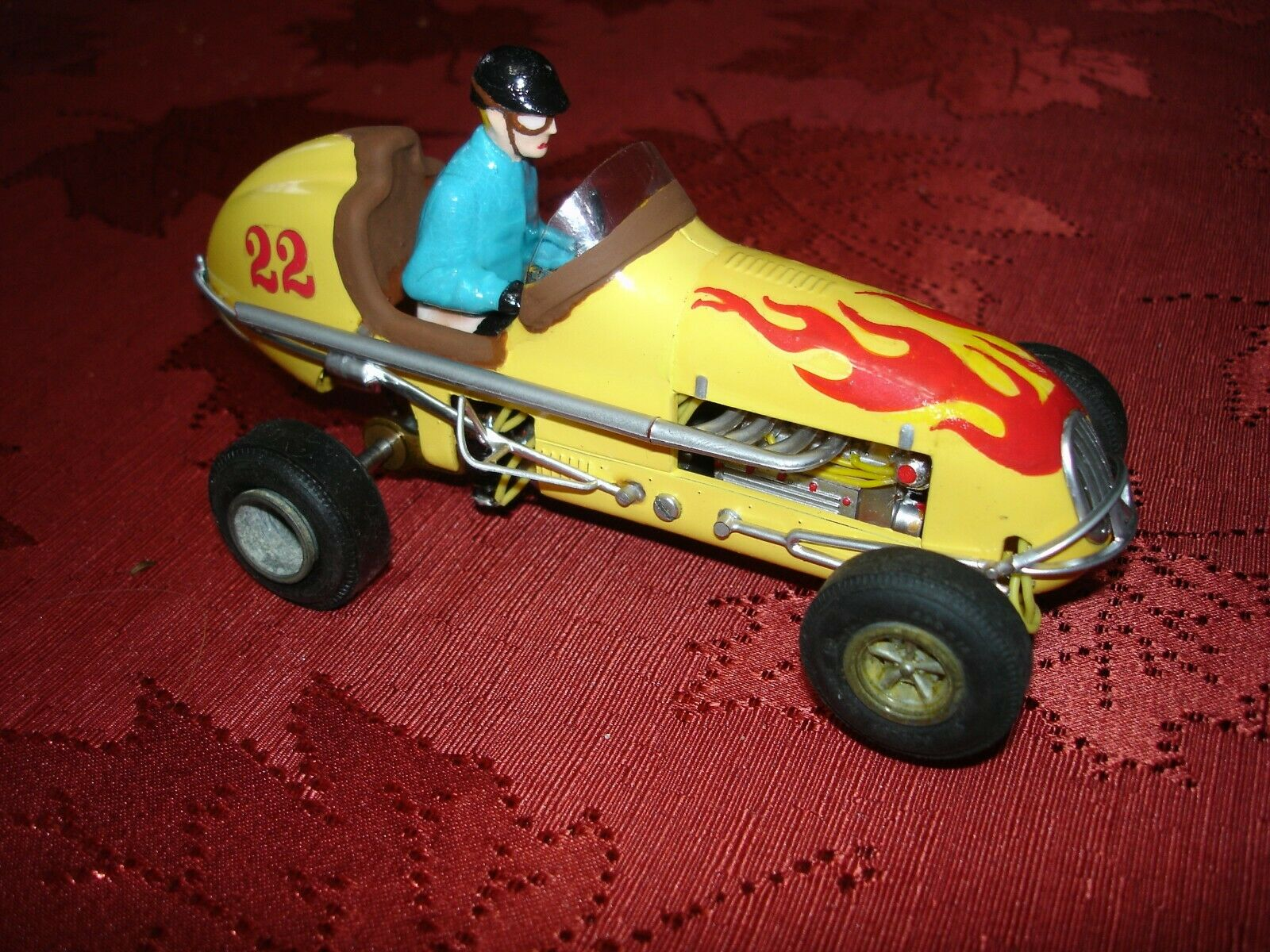 *SOLD* Midget Racer Monogram Yellow Lightening V Racing Special – Slot Car 1/24 Scale