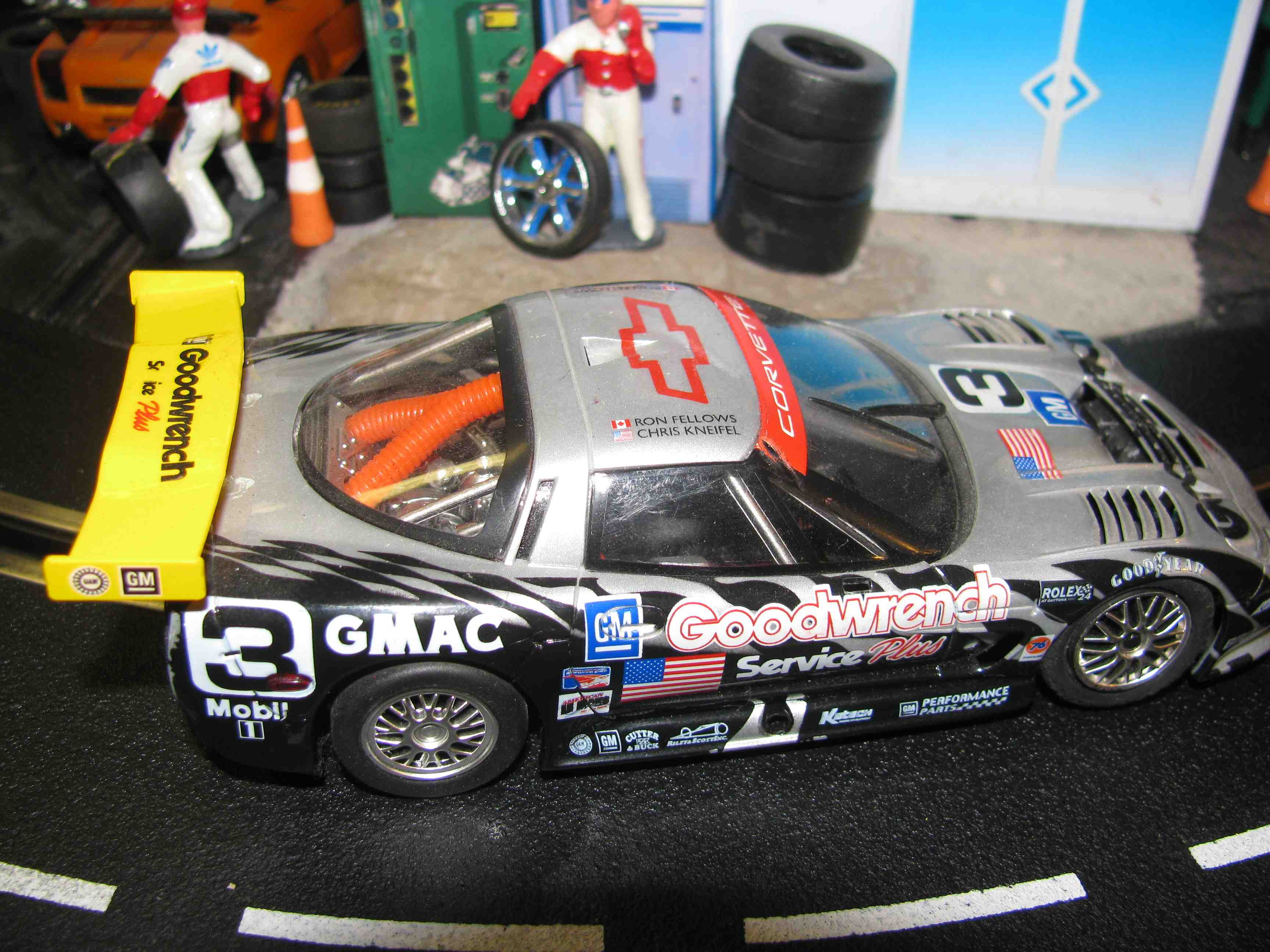 *SOLD* FLY CORVETTE C5R GOODWRENCH #3 LAGUNA SECA, 1/32 SLOT CAR,WORKING LIGHTS (Fr&Rr)