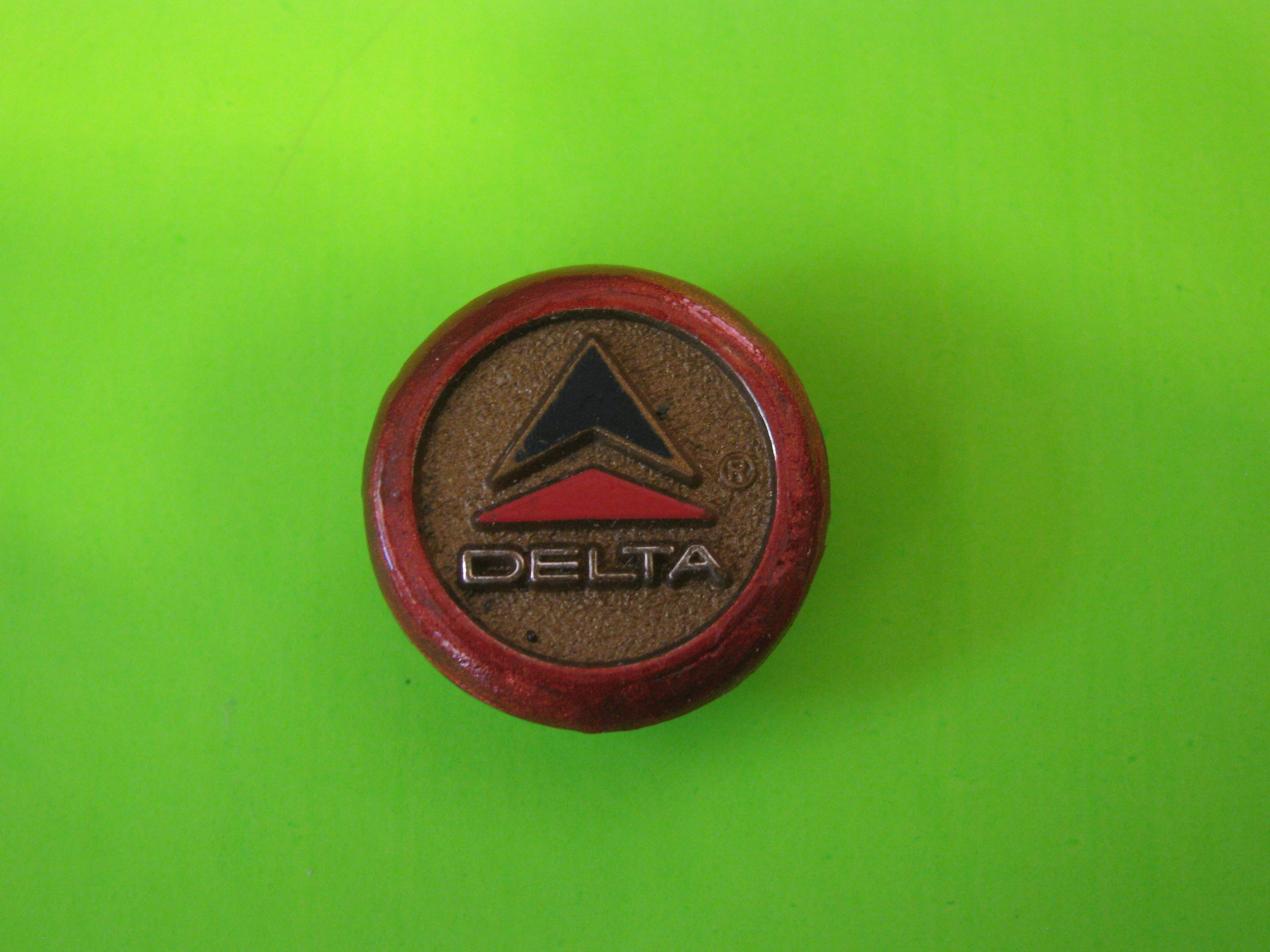 Vintage DELTA AIR LINES LOGO on Metal Button with Metal Loop Shank