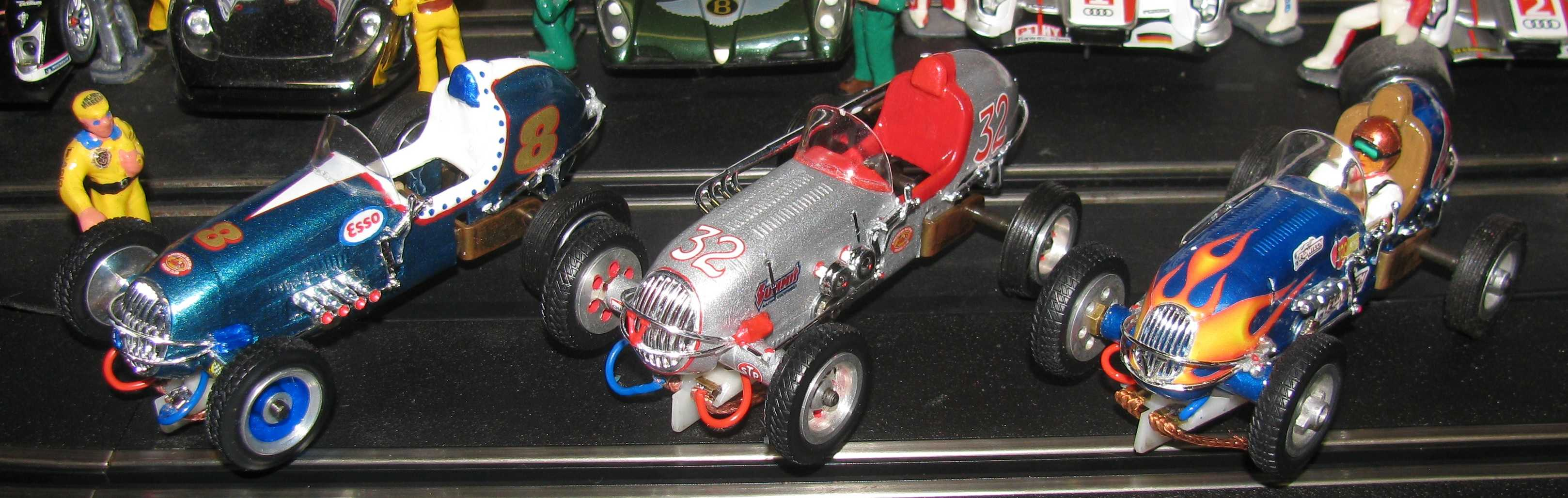 * SOLD * * SPECIAL FOR CHARLES E. ONLY * 3 Revell Midget Racers -Cars  #8, #32 & #4 – 1:32 Scale