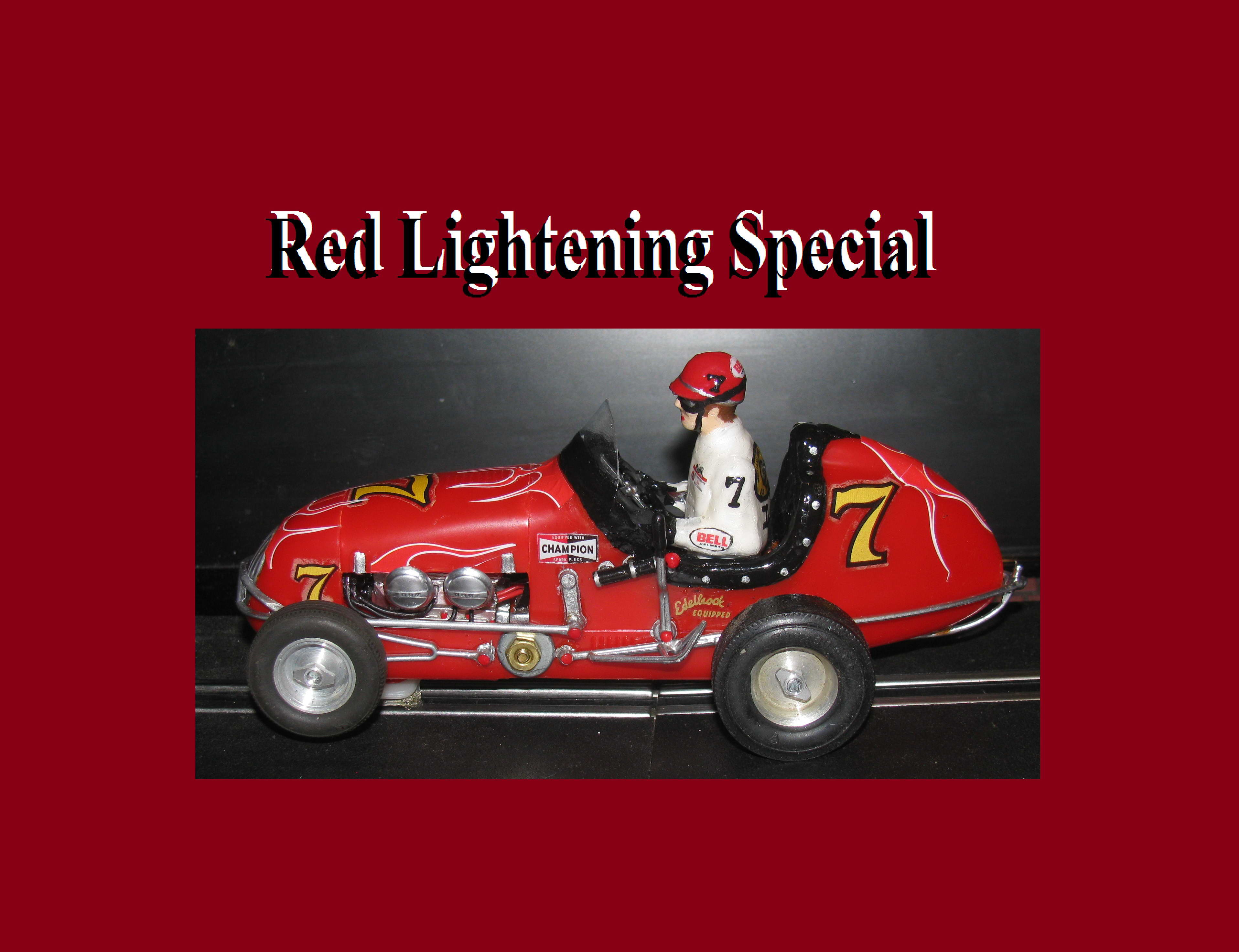 * SOLD * * SALE * Monogram Midget Racer Red Lightening Special Car #7