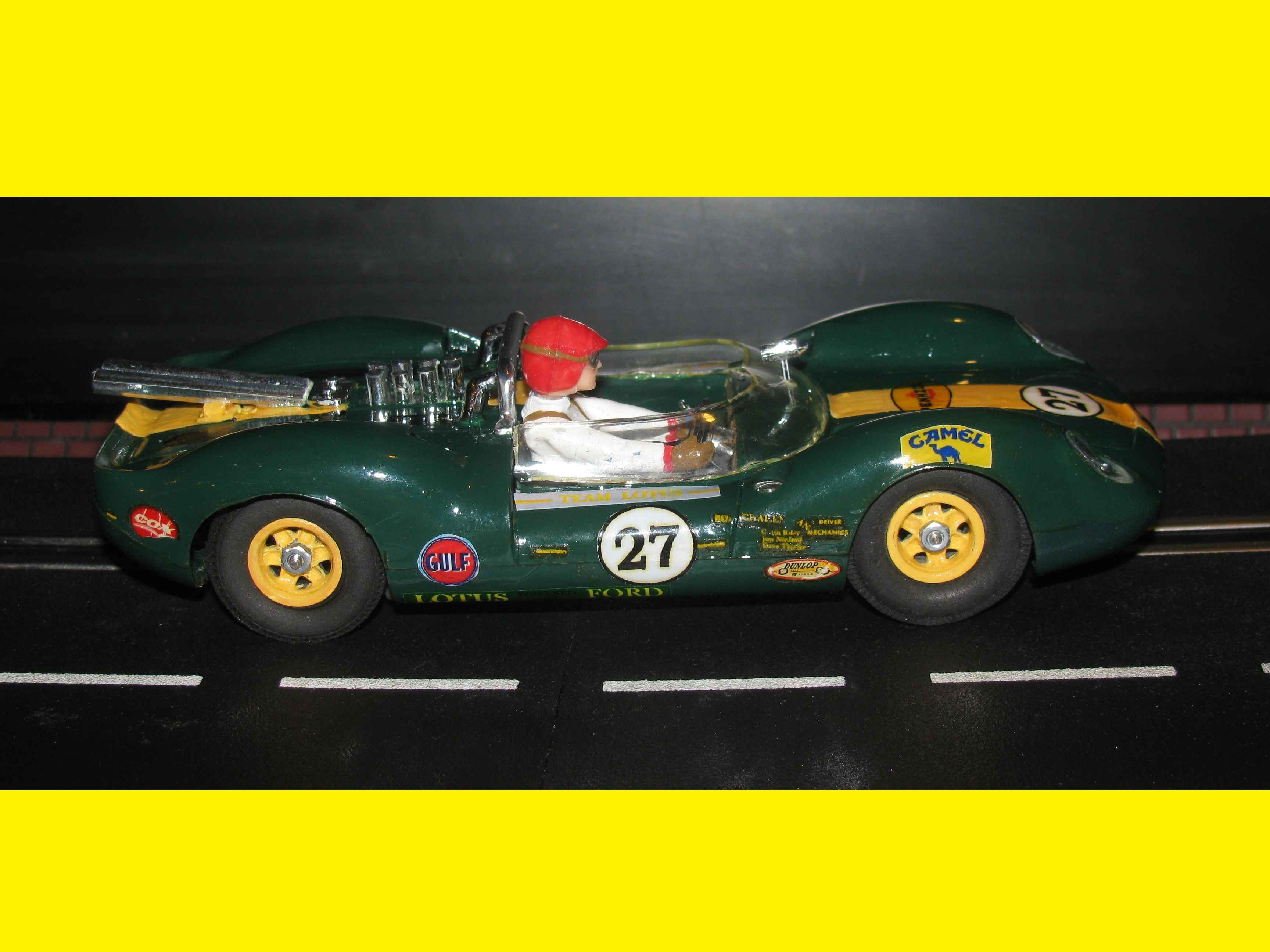* SOLD * * Winter is coming SALE * Vintage COX Lotus Type 40 Slot Car in 1/24 Scale Car #27
