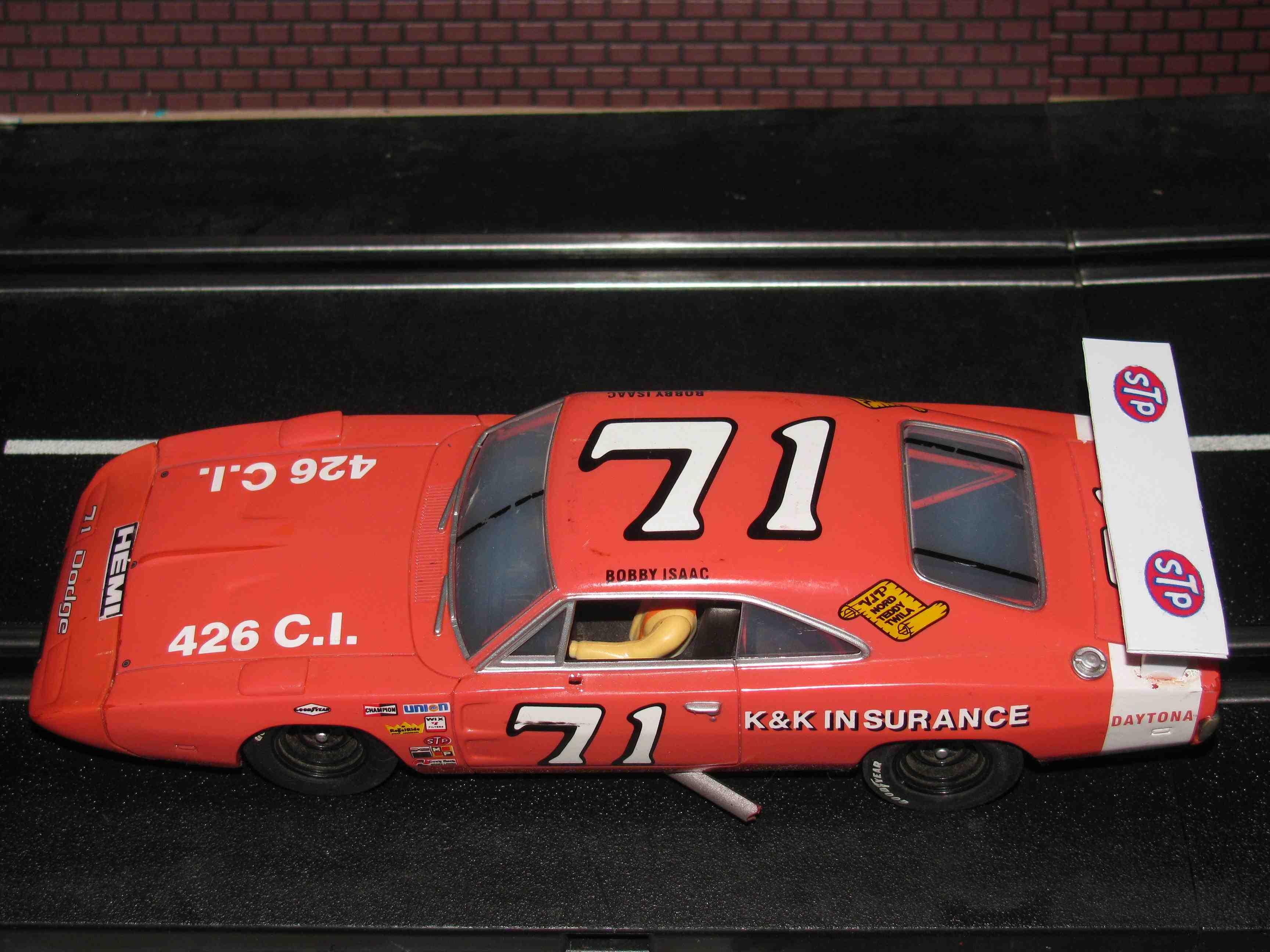 1969 Dodge Charger Daytona 426 HEMI Slot Car 1/32 Scale Carrera Evo