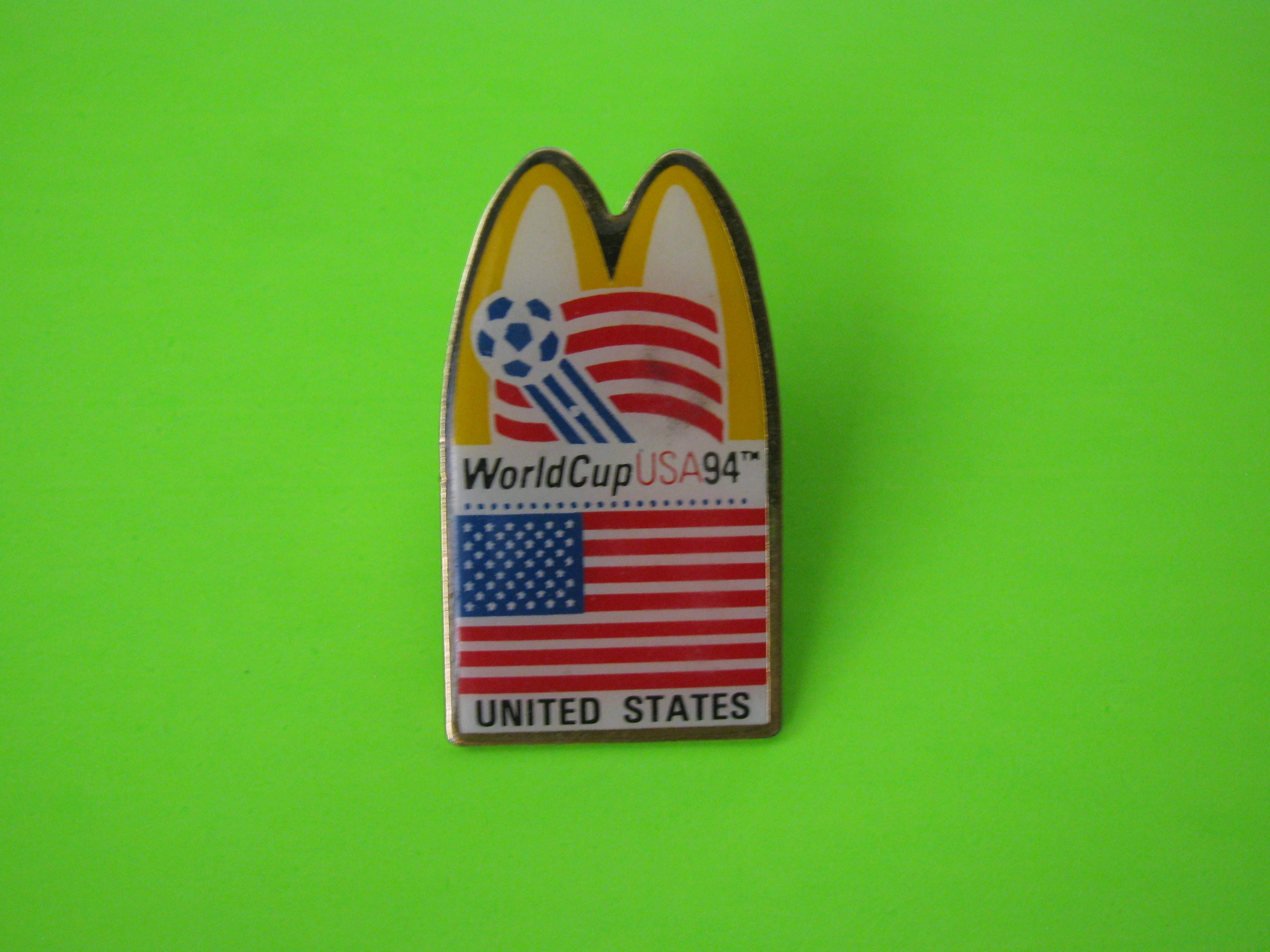 1994 World Cup USA McDonald's Team USA Soccer Pin with Butterfly Clutch