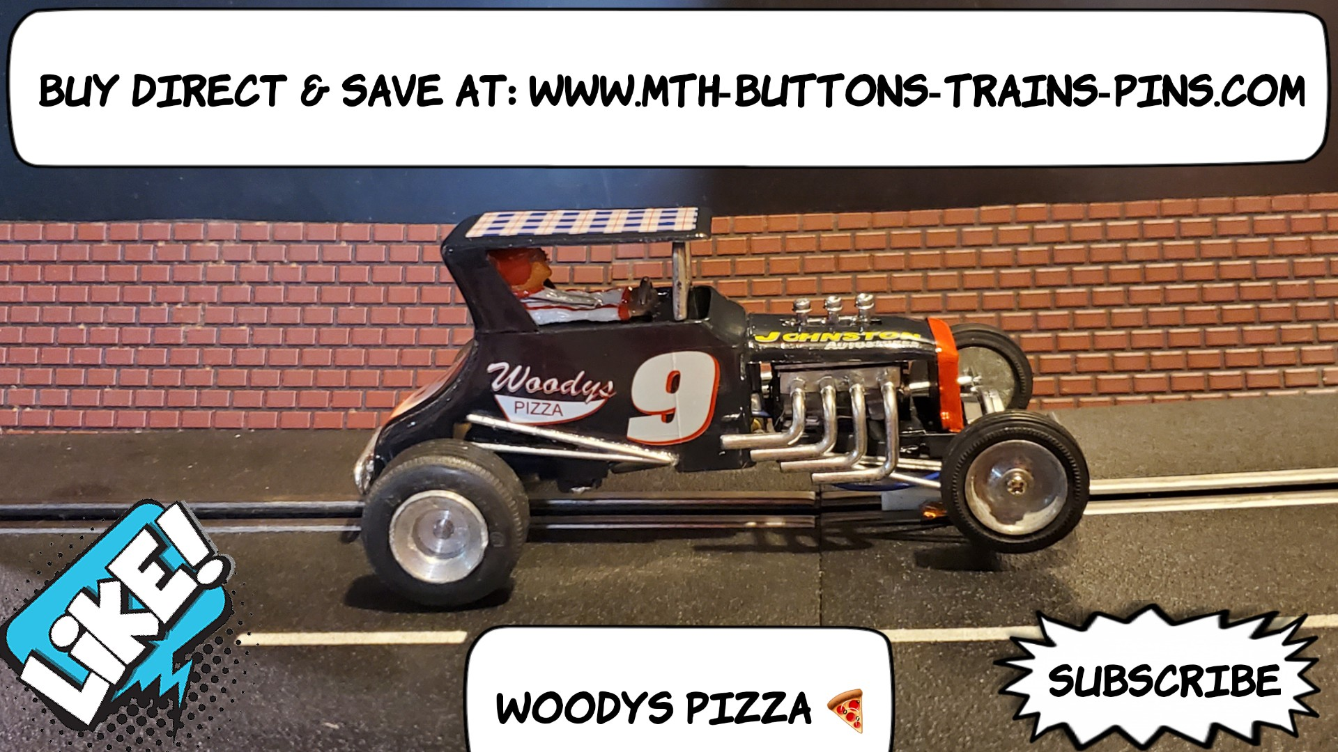 *SAVE $50 vs. our eBay store * Strombecker Dirt Track Midget Racer Slot Car 1/24 Scale – Car #9